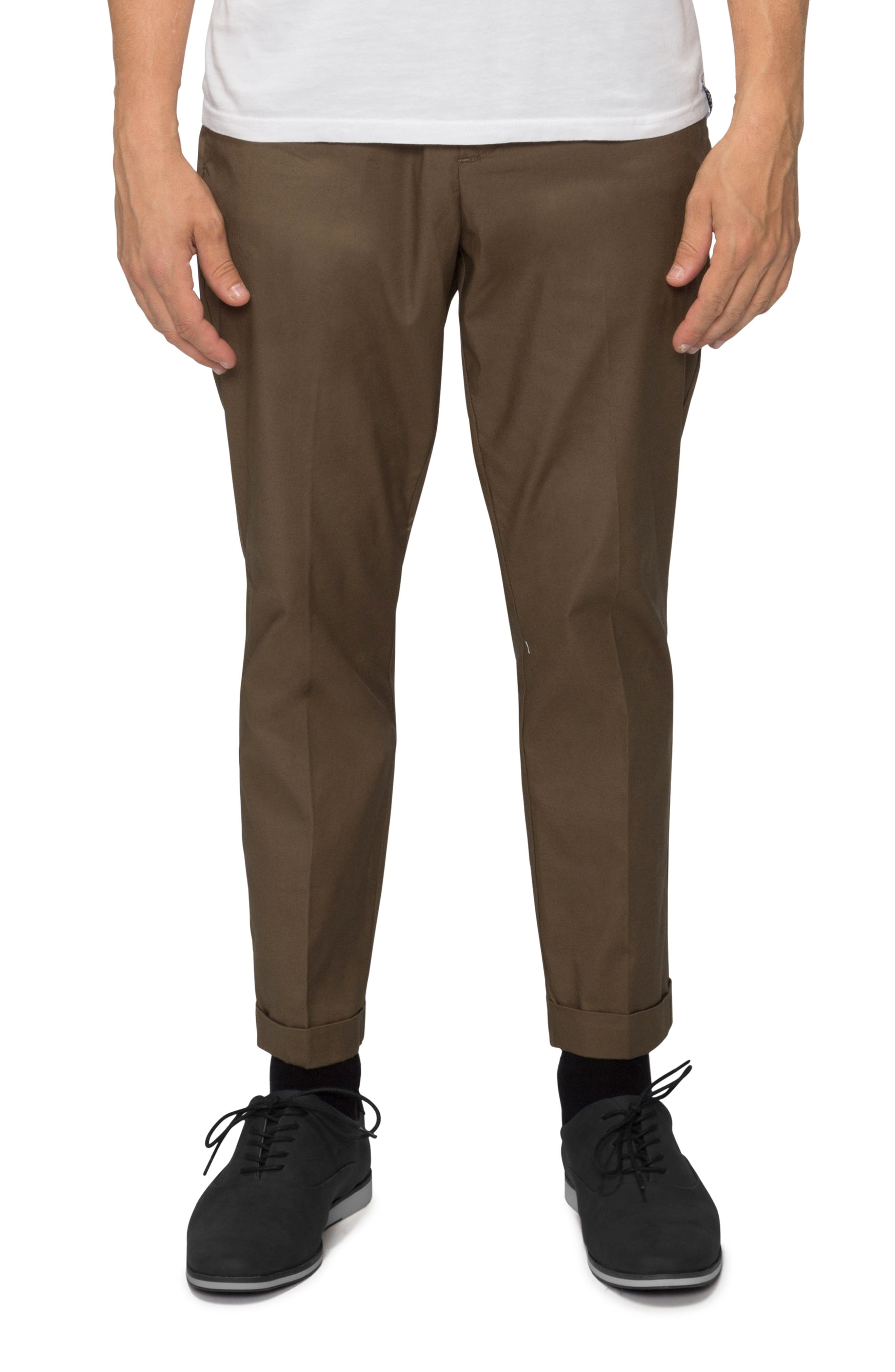 'Arroyo' Crop Stretch Chinos,                             Main thumbnail 4, color,