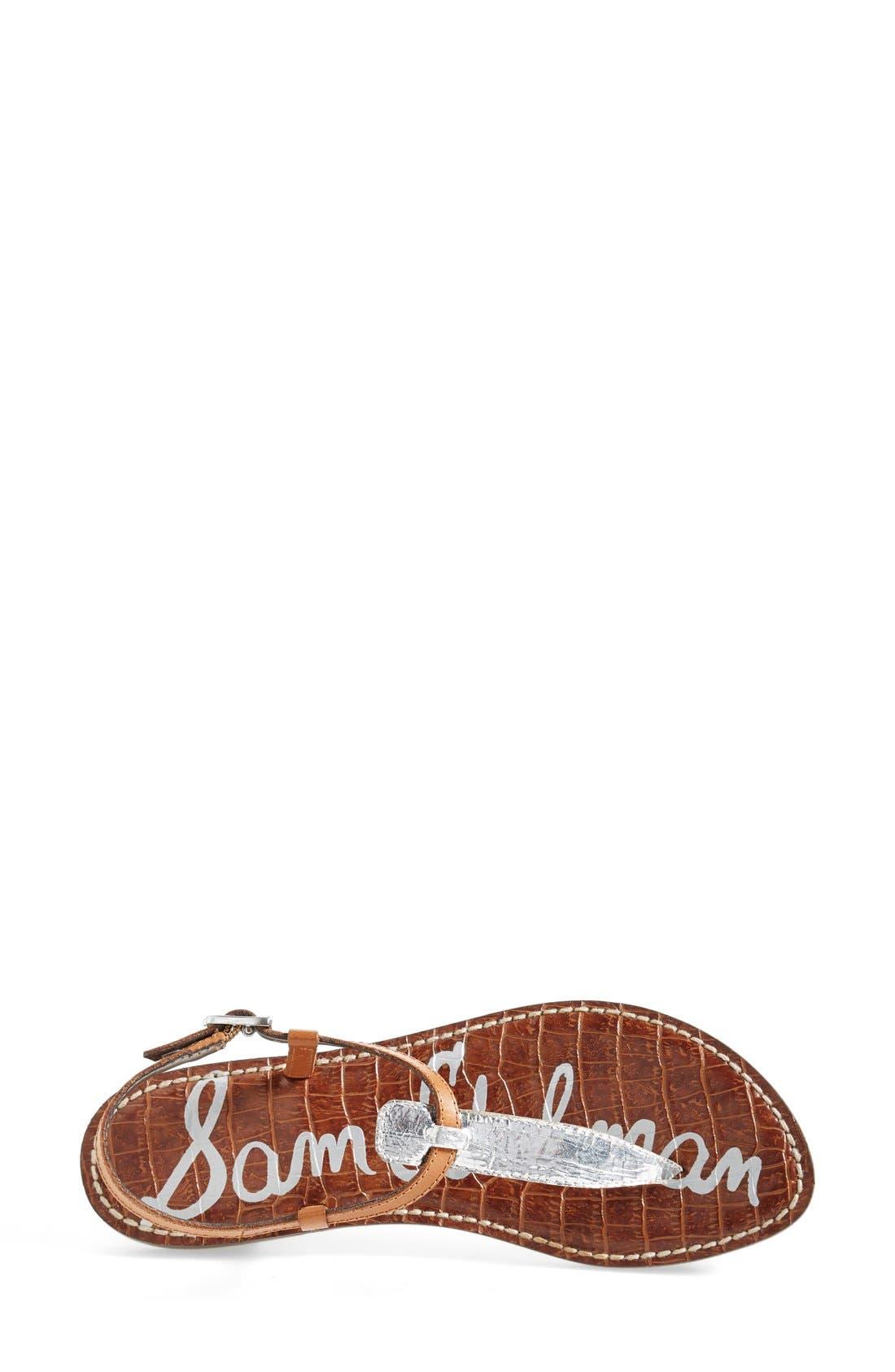 'Gigi' Leather Sandal,                             Alternate thumbnail 4, color,                             045