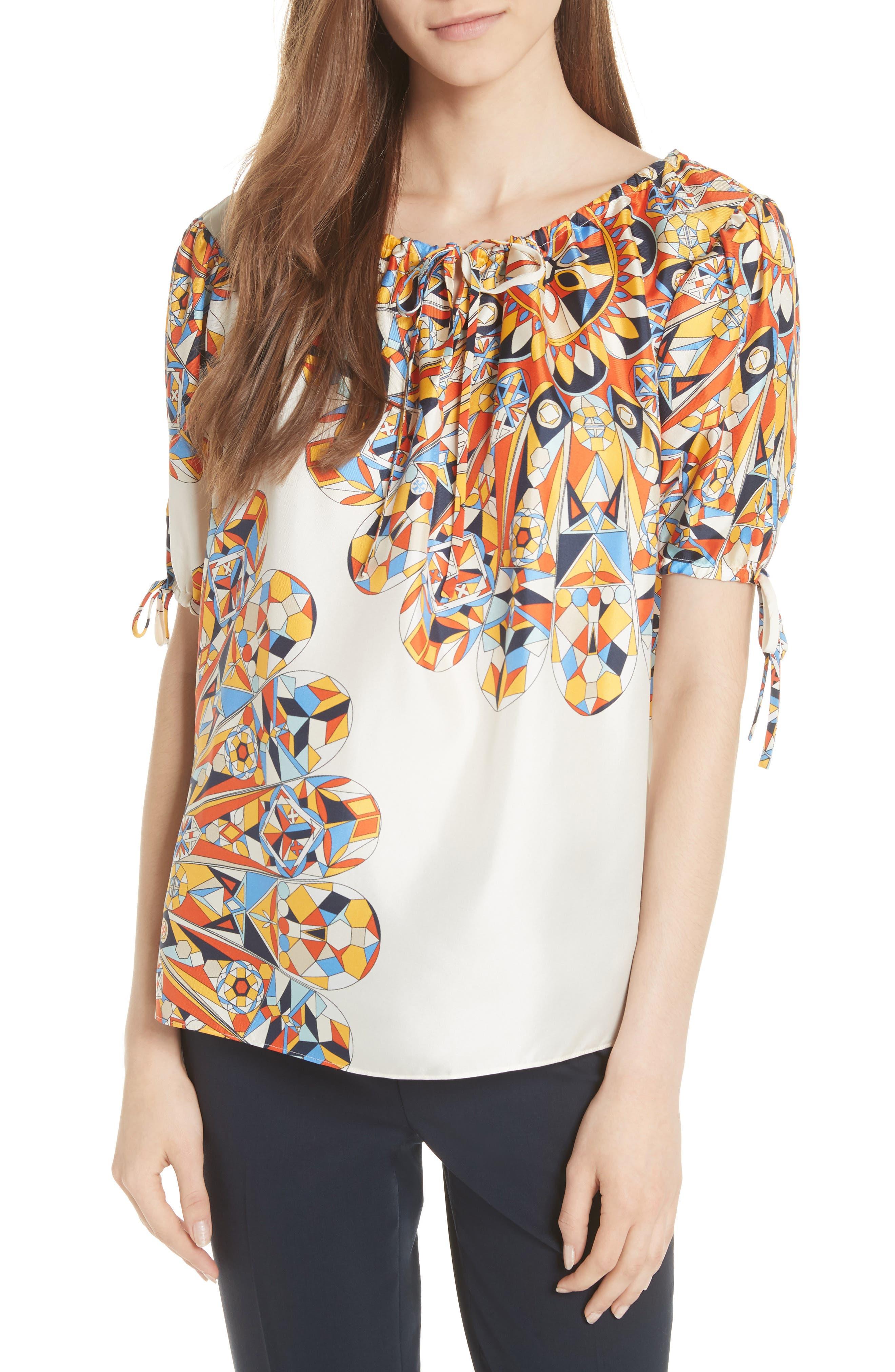 Alyssa Silk Top,                         Main,                         color, 106