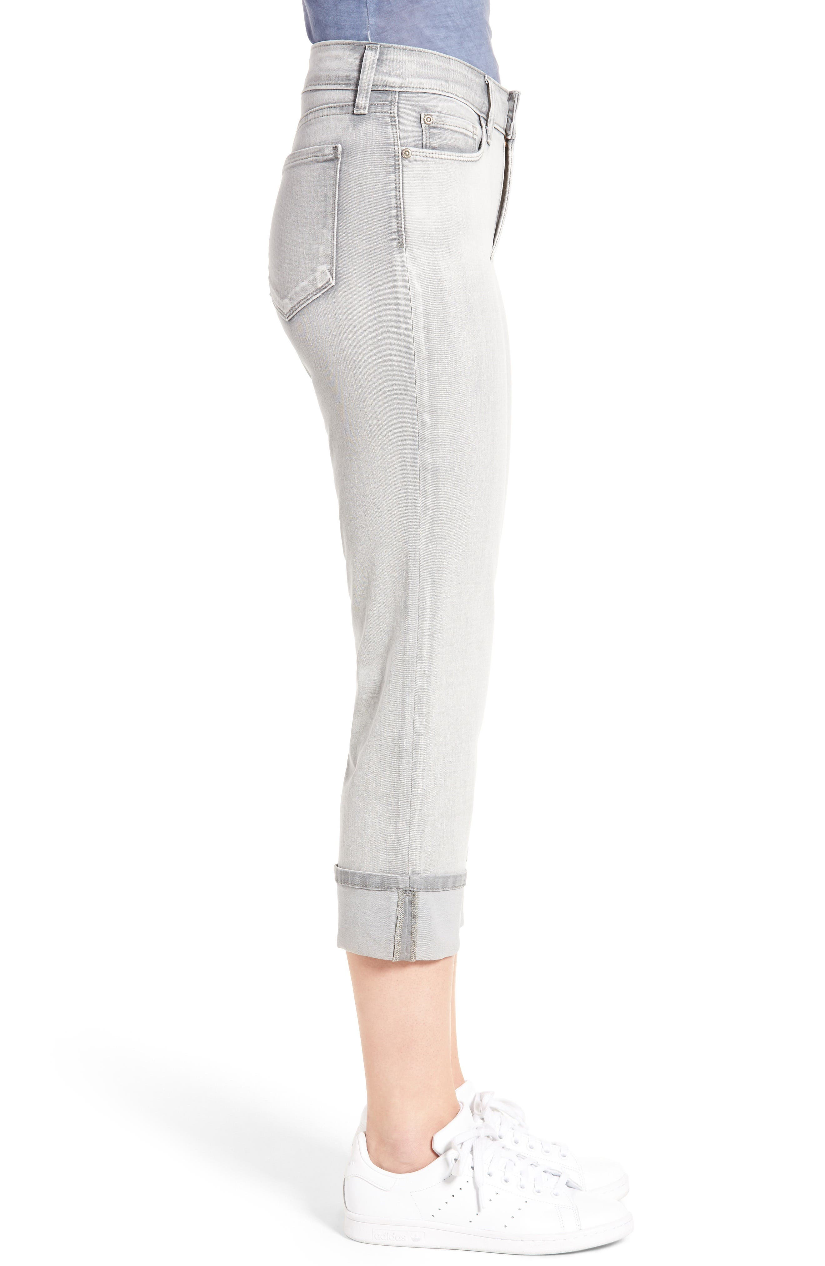 'Dayla' Colored Wide Cuff Capri Jeans,                             Alternate thumbnail 30, color,