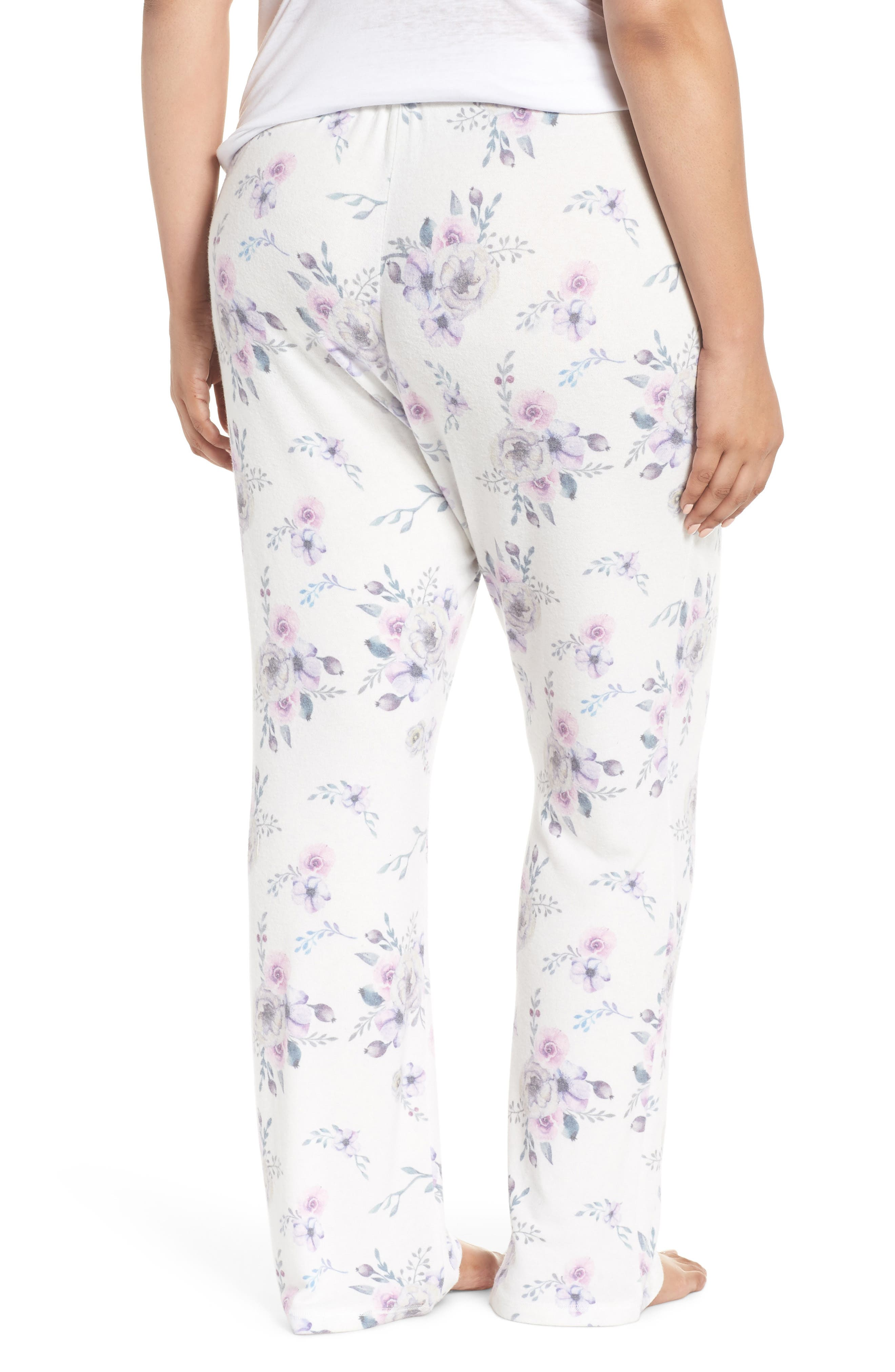 Floral Lounge Pants,                             Alternate thumbnail 2, color,                             NATURAL