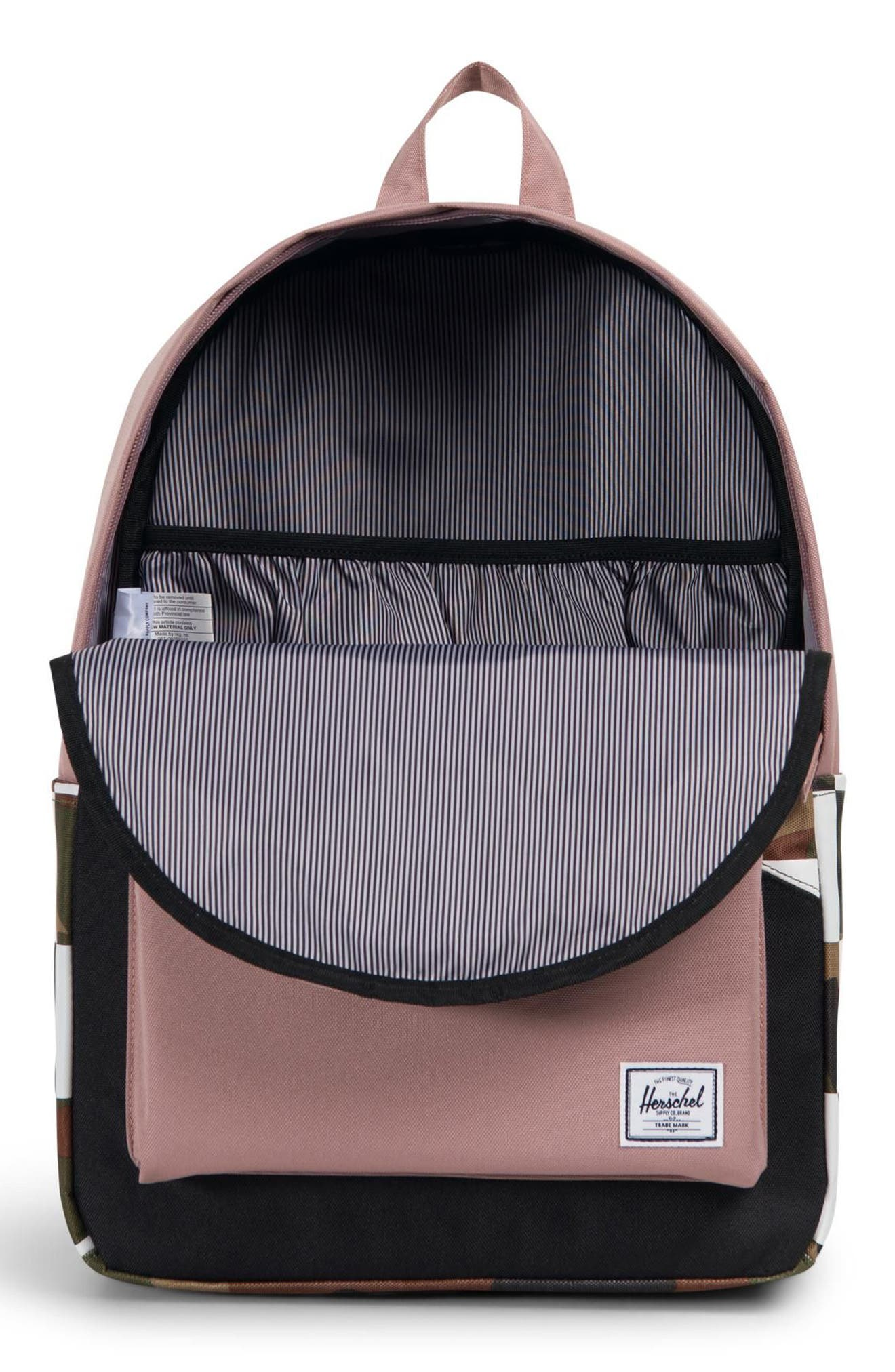 Classic Kaleidoscope Backpack,                             Alternate thumbnail 4, color,                             WOODLAND/ ASH ROSE/ CHECKER