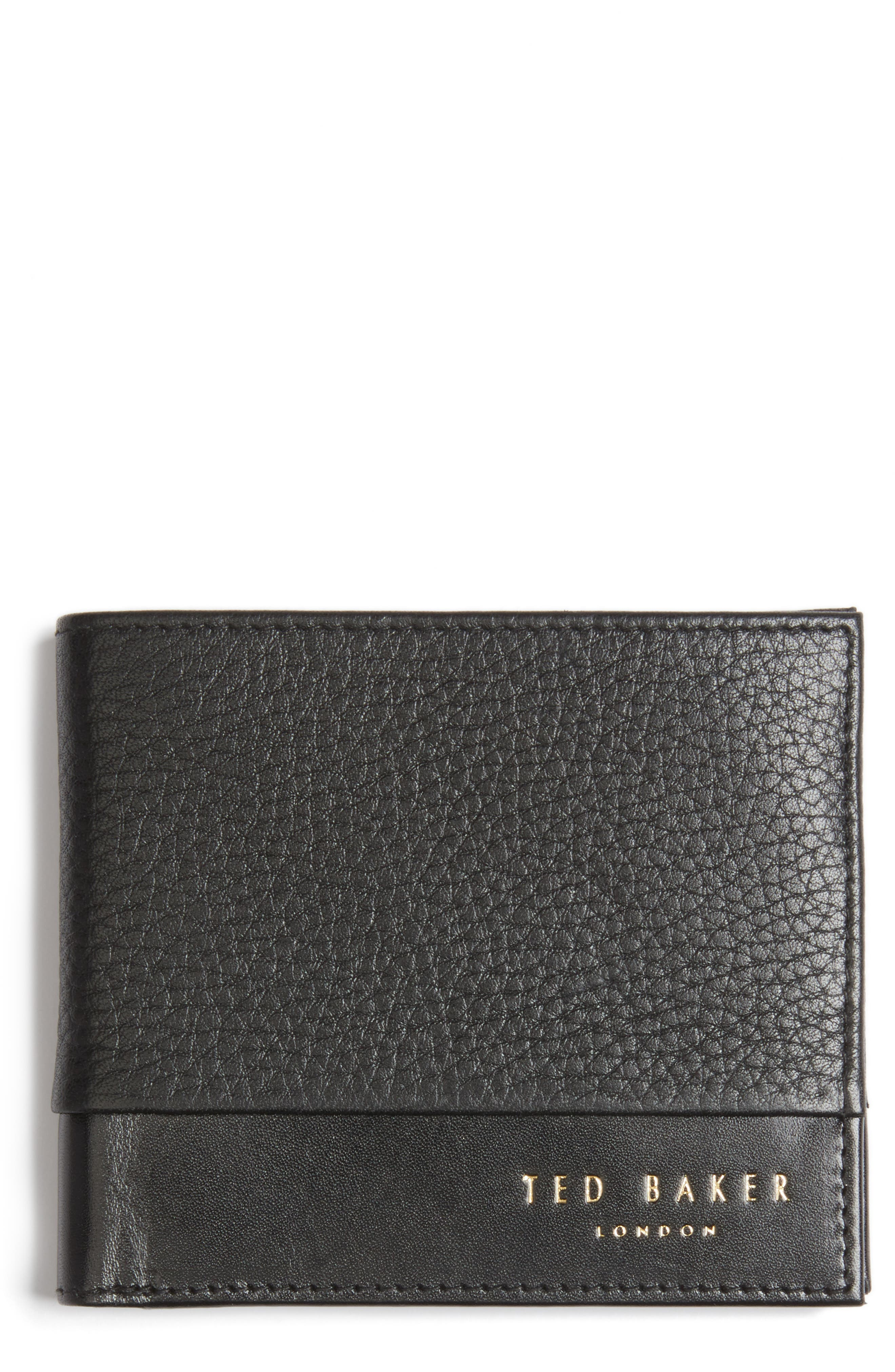 Mixdup Leather Wallet,                             Main thumbnail 1, color,                             001