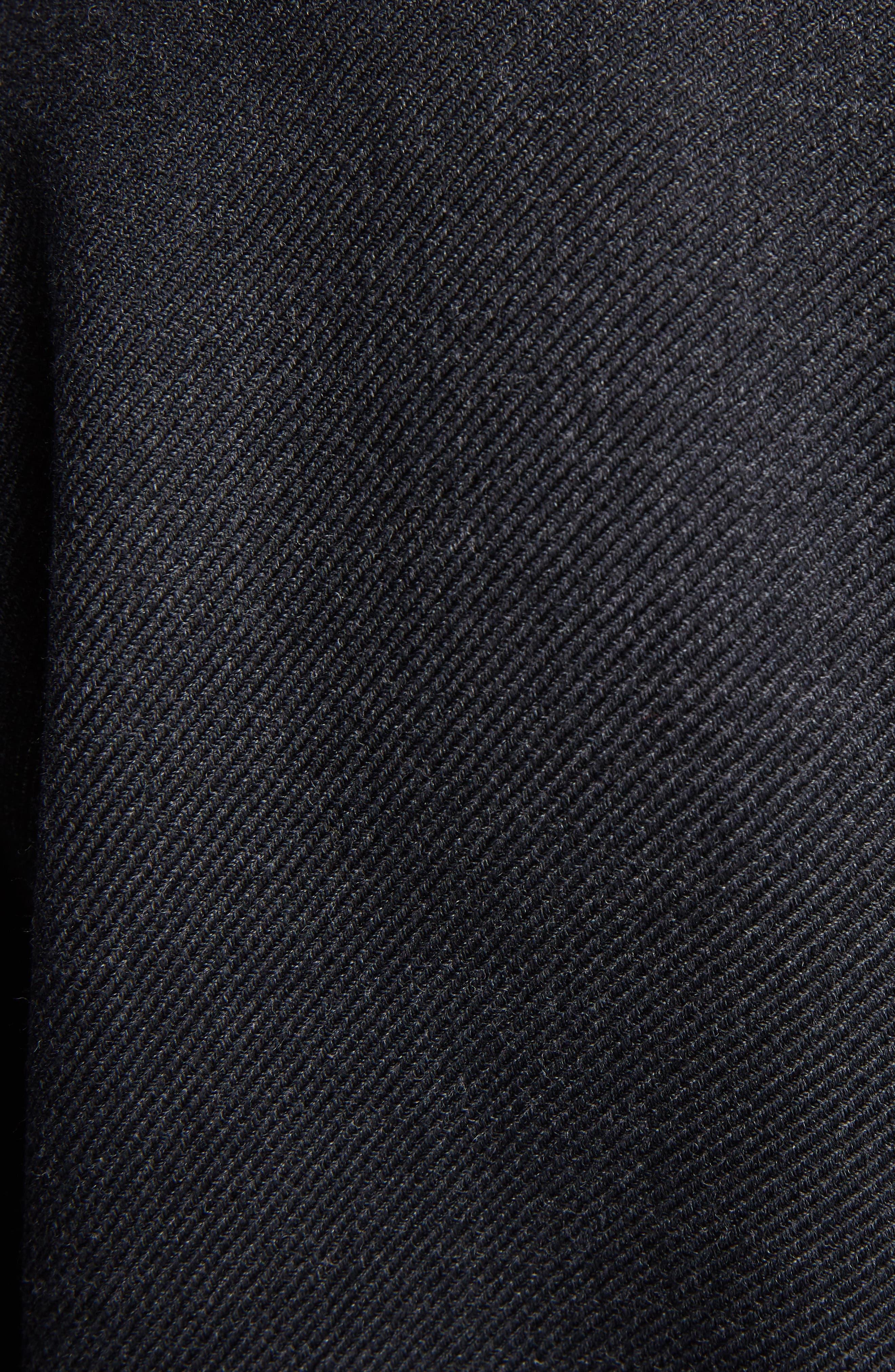 Stretch Wool Asymmetrical Coat,                             Alternate thumbnail 5, color,                             042