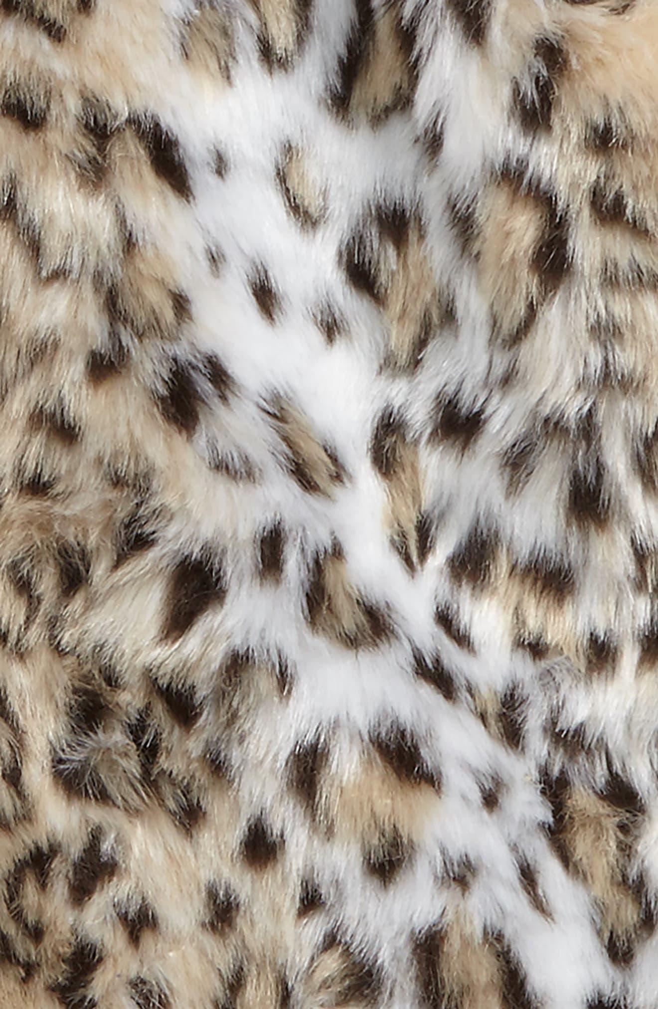 Faux Fur Capelet,                             Alternate thumbnail 5, color,