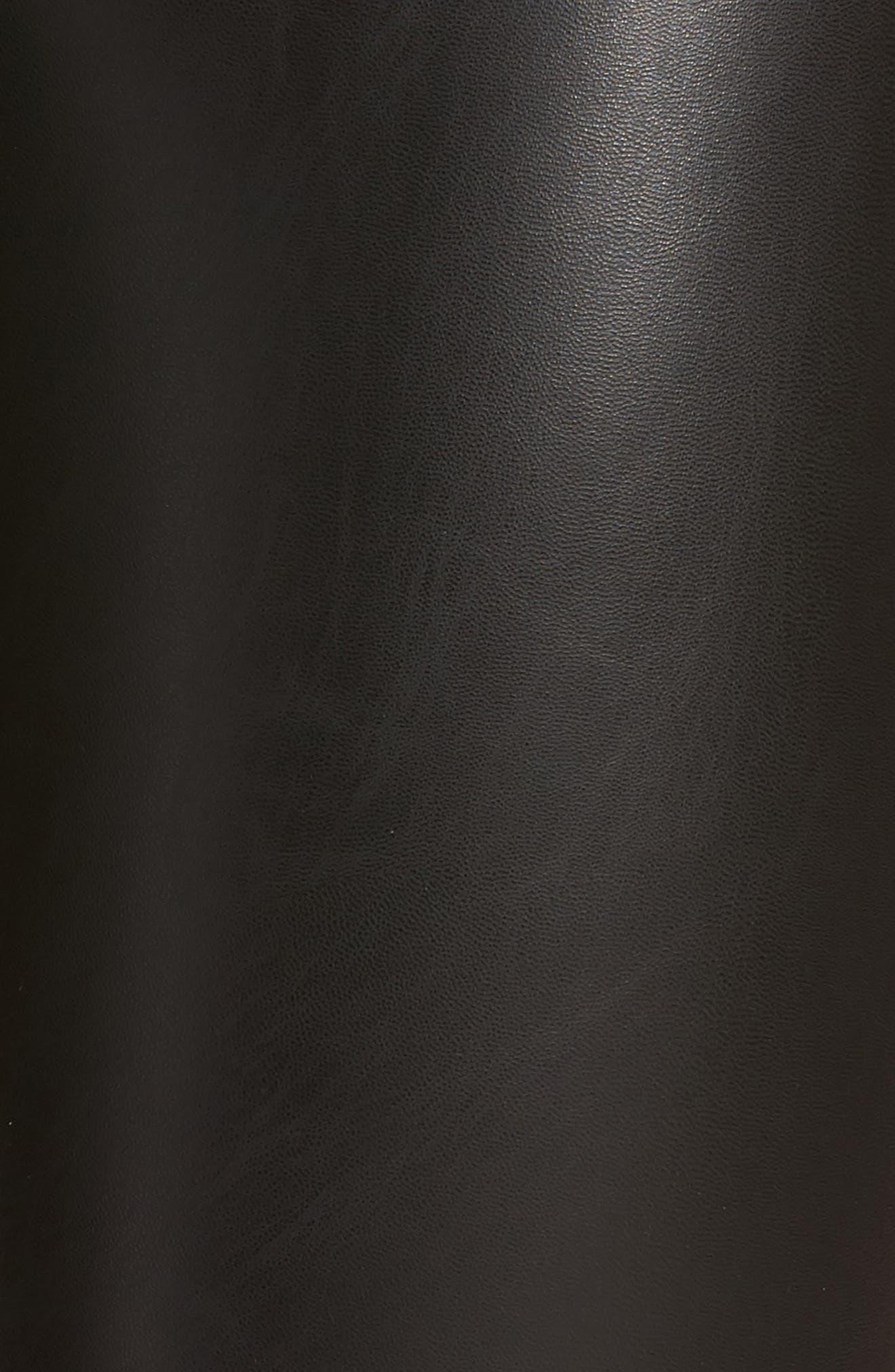 Elliot High Waist Faux Leather Leggings,                             Alternate thumbnail 5, color,                             001
