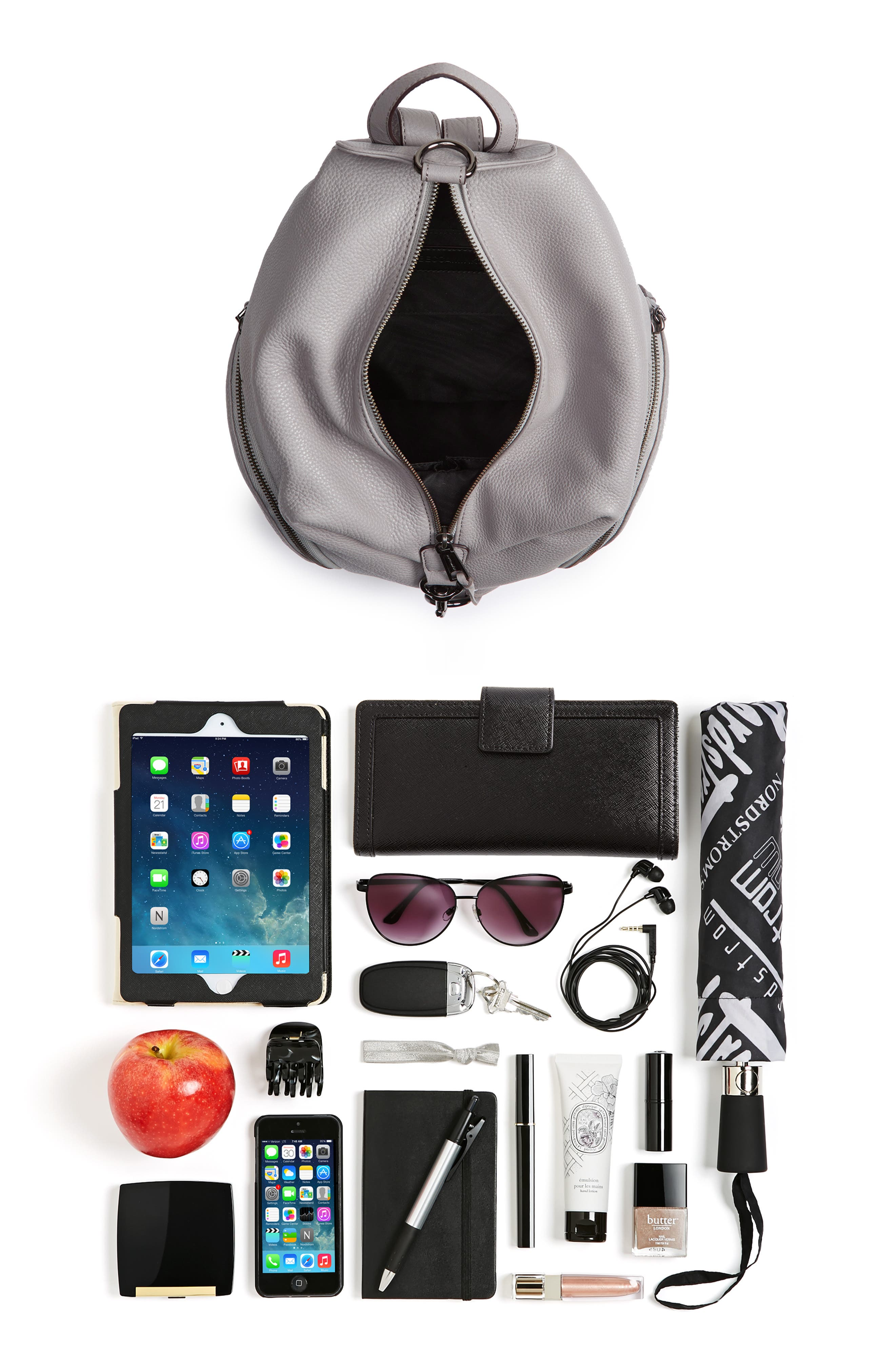Julian Pebbled Leather Backpack,                             Alternate thumbnail 7, color,                             020