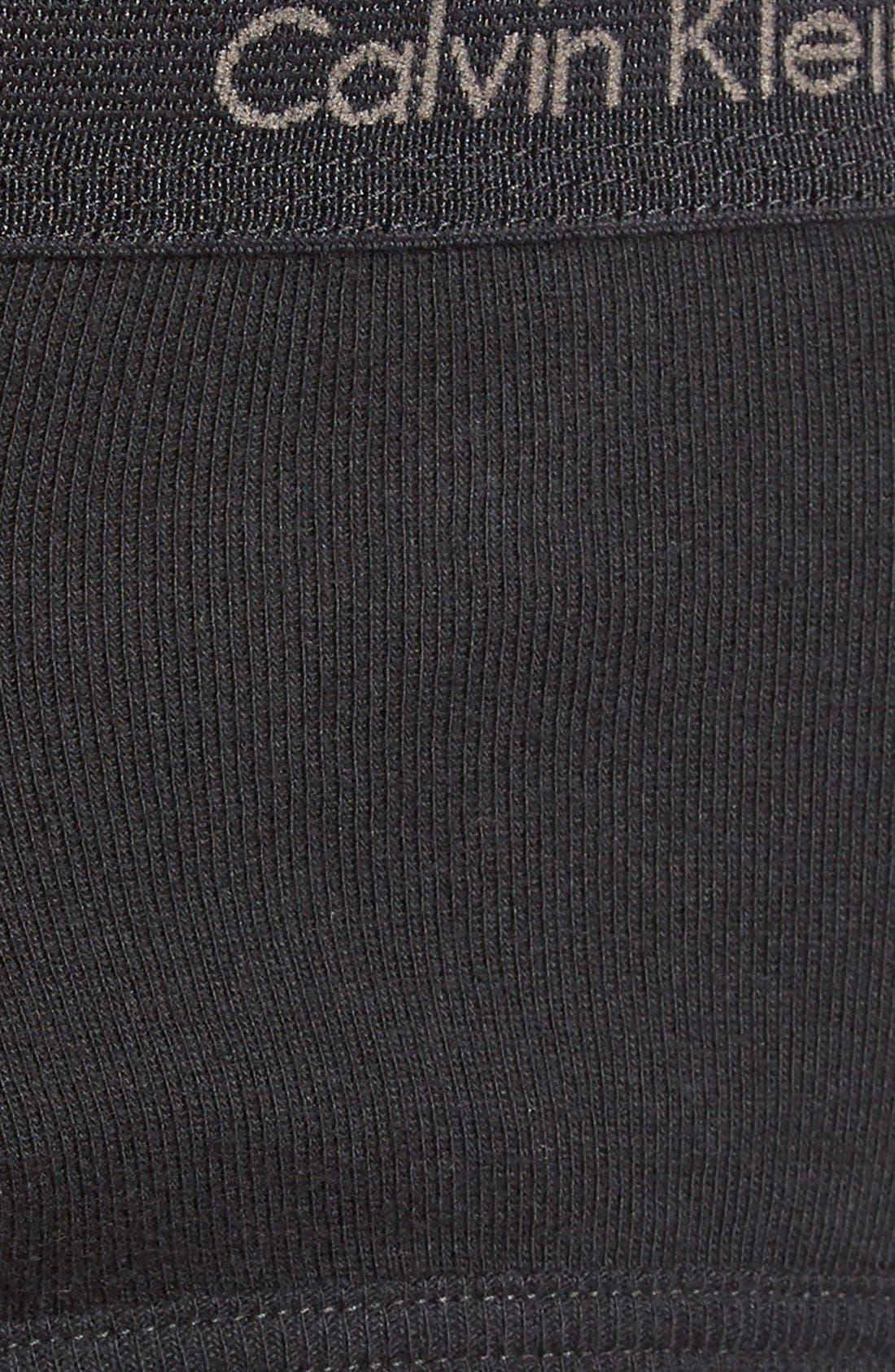 4-Pack Cotton Briefs,                             Alternate thumbnail 3, color,                             BLACK