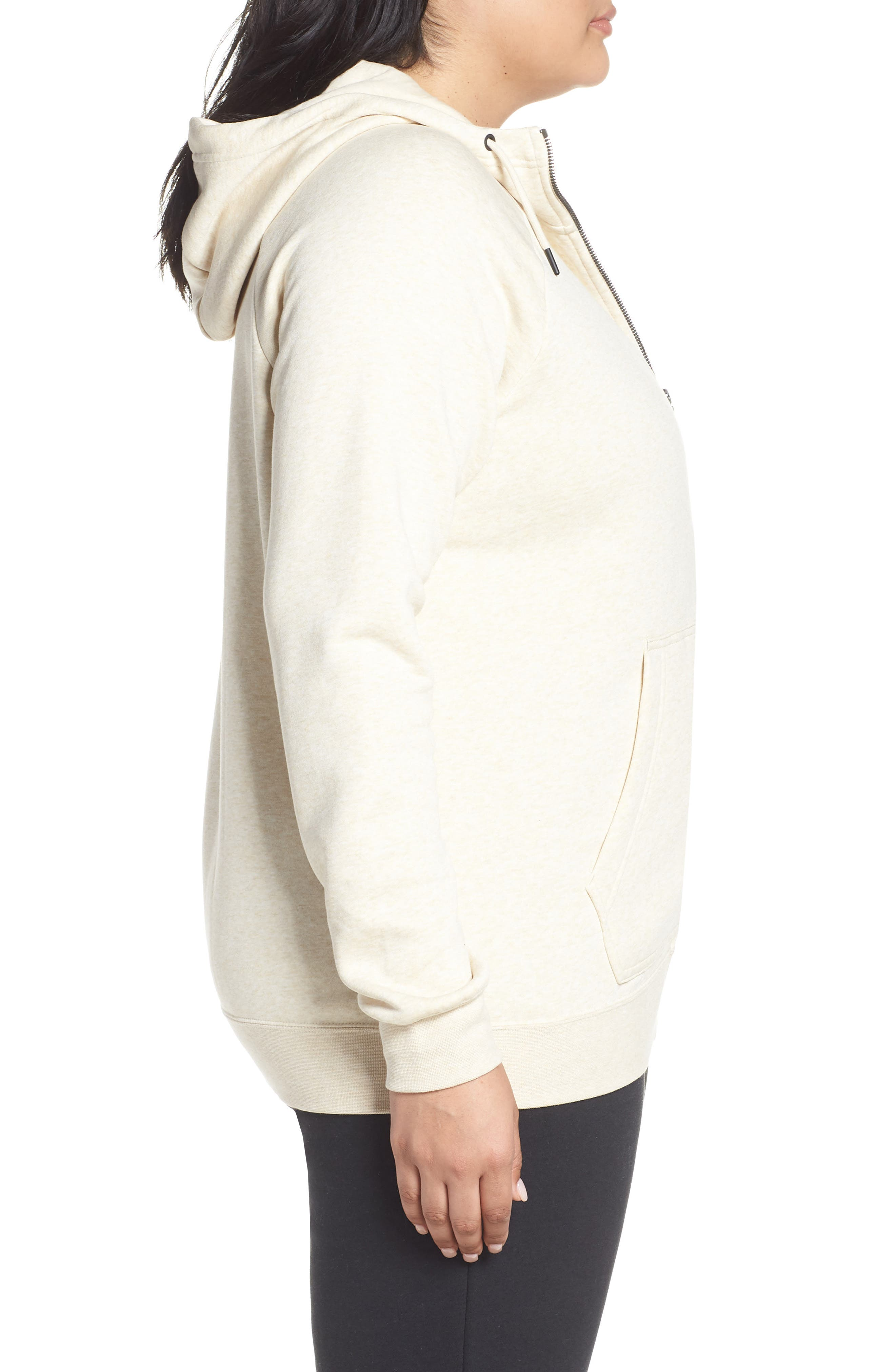 NSW Rally Hooded Jacket,                             Alternate thumbnail 3, color,                             LIGHT CREAM/ HEATHER/ BLACK