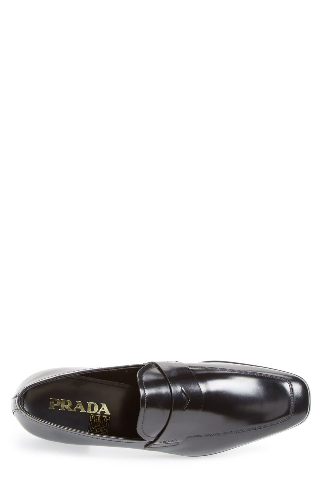 Spazzolato Penny Loafer,                             Alternate thumbnail 3, color,                             001