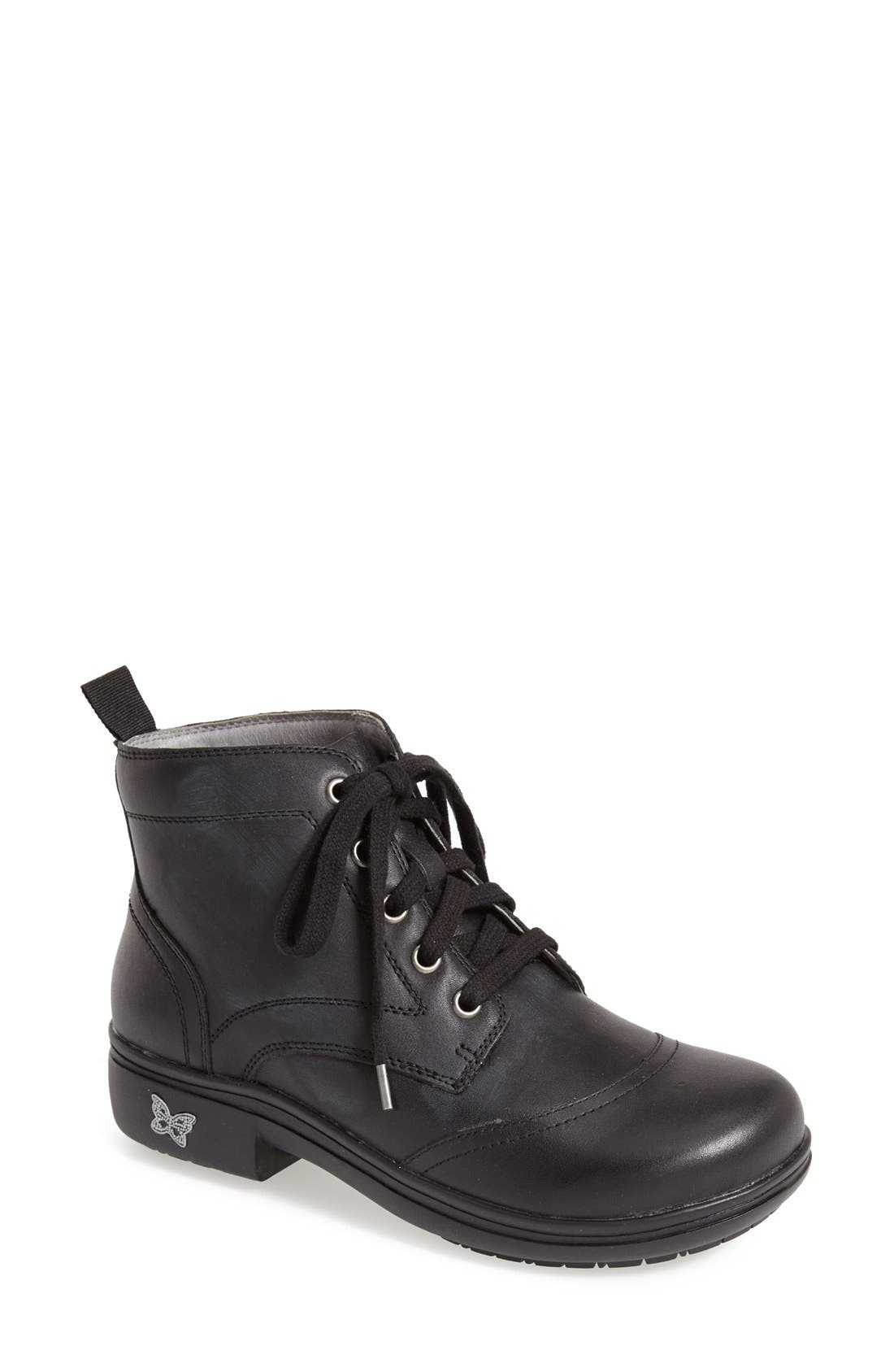 'Kylie' Leather Boot,                         Main,                         color, 001