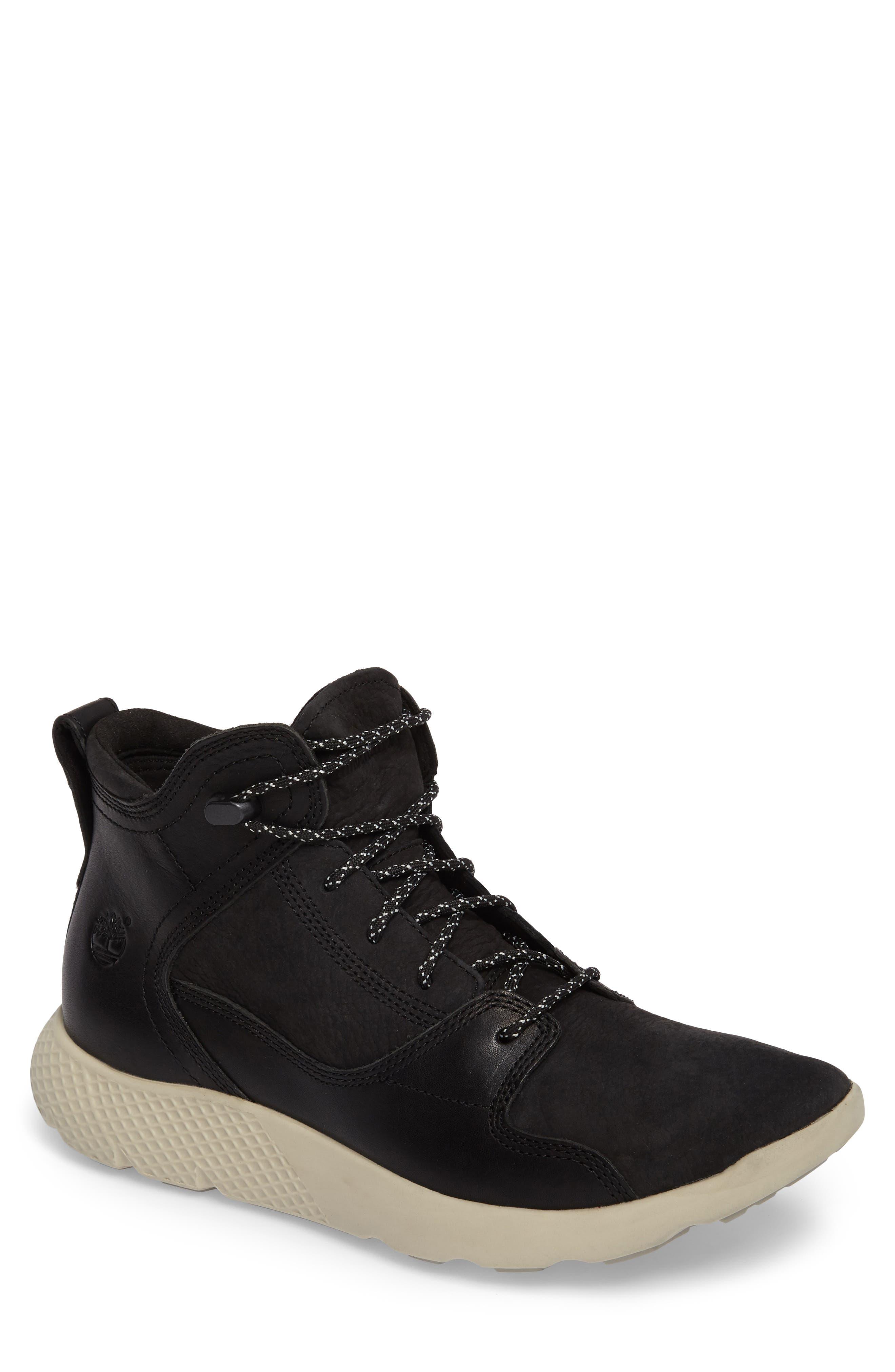 Fly Roam Chukka Boot,                         Main,                         color, BLACK NUBUCK