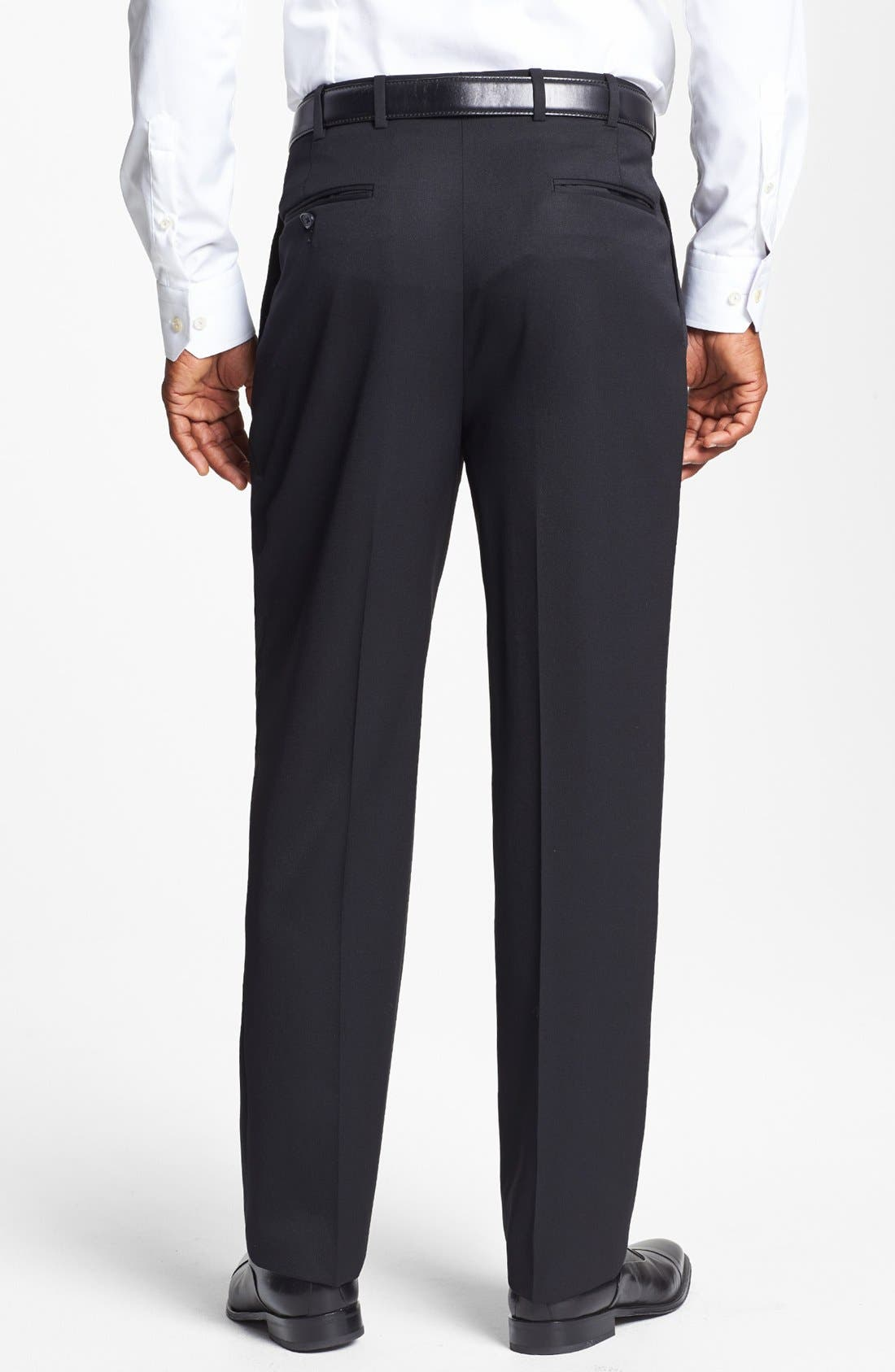 Pleated Super 100s Worsted Wool Trousers,                             Alternate thumbnail 20, color,