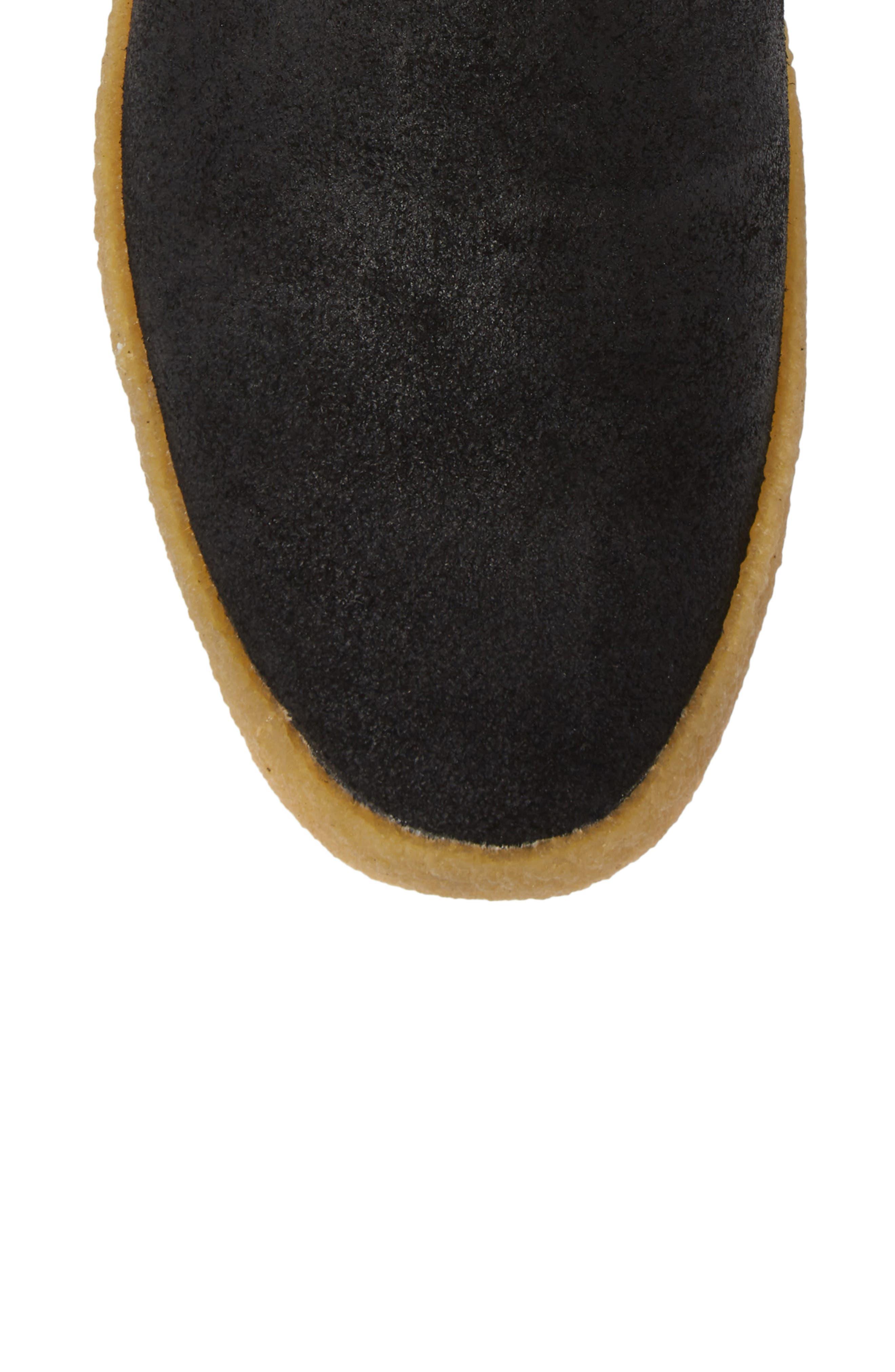 Sin Chelsea Boot,                             Alternate thumbnail 4, color,                             BLACK GUM SUEDE/ NYLON