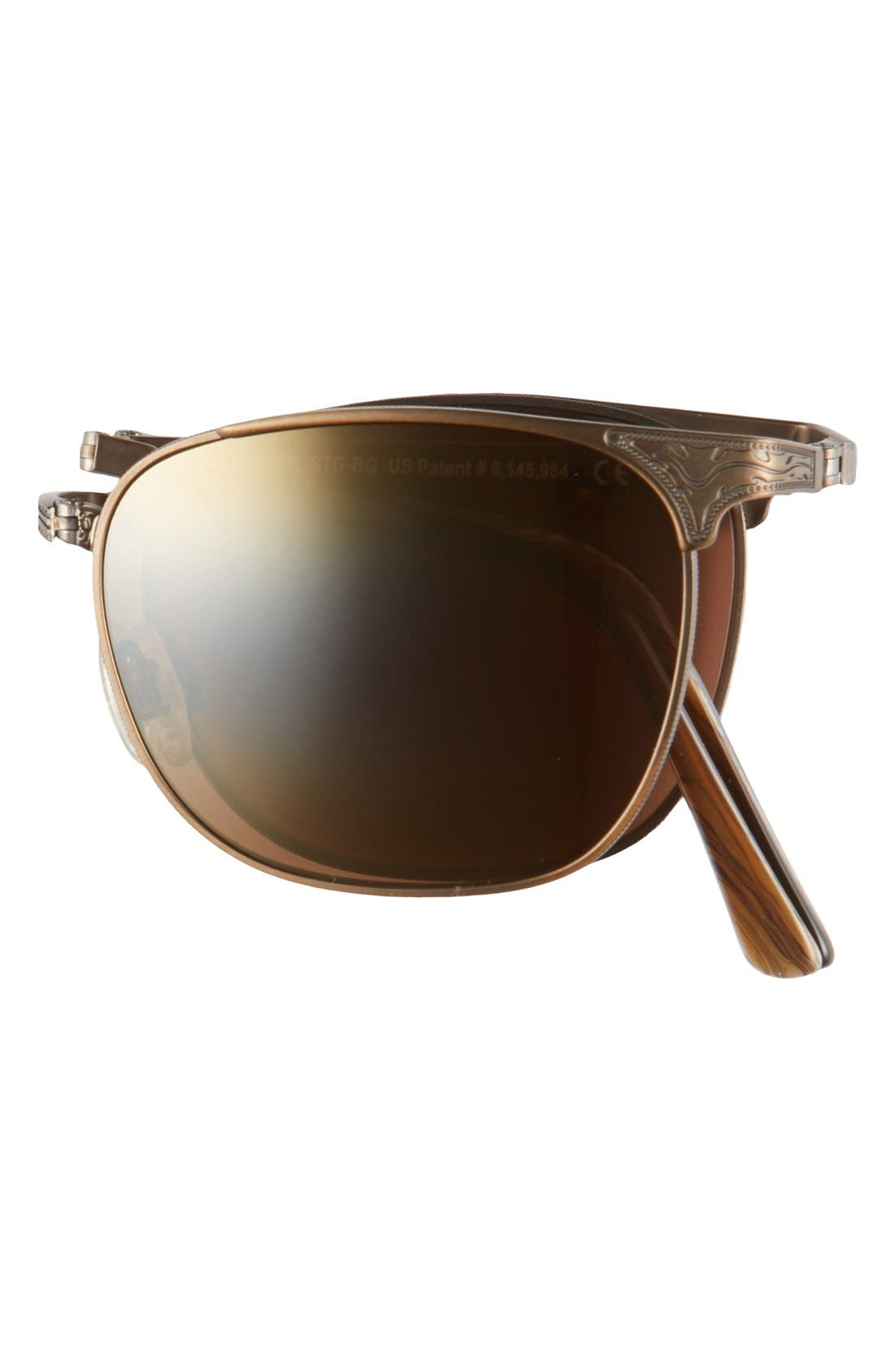 'Stillwater' 52mm Polarized Sunglasses,                             Alternate thumbnail 2, color,                             ANTIQUE GOLD/HCL BRONZE
