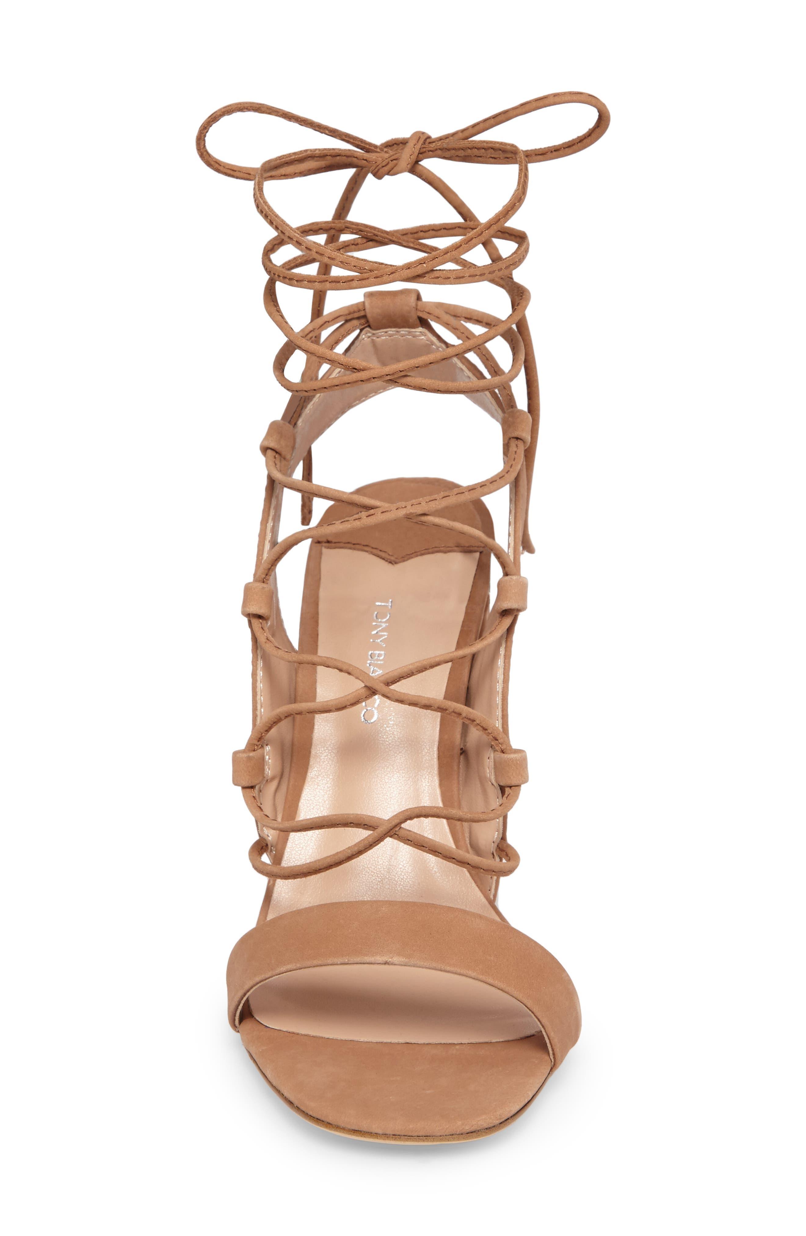 Dani Ghillie Flared Heel Sandal,                             Alternate thumbnail 8, color,