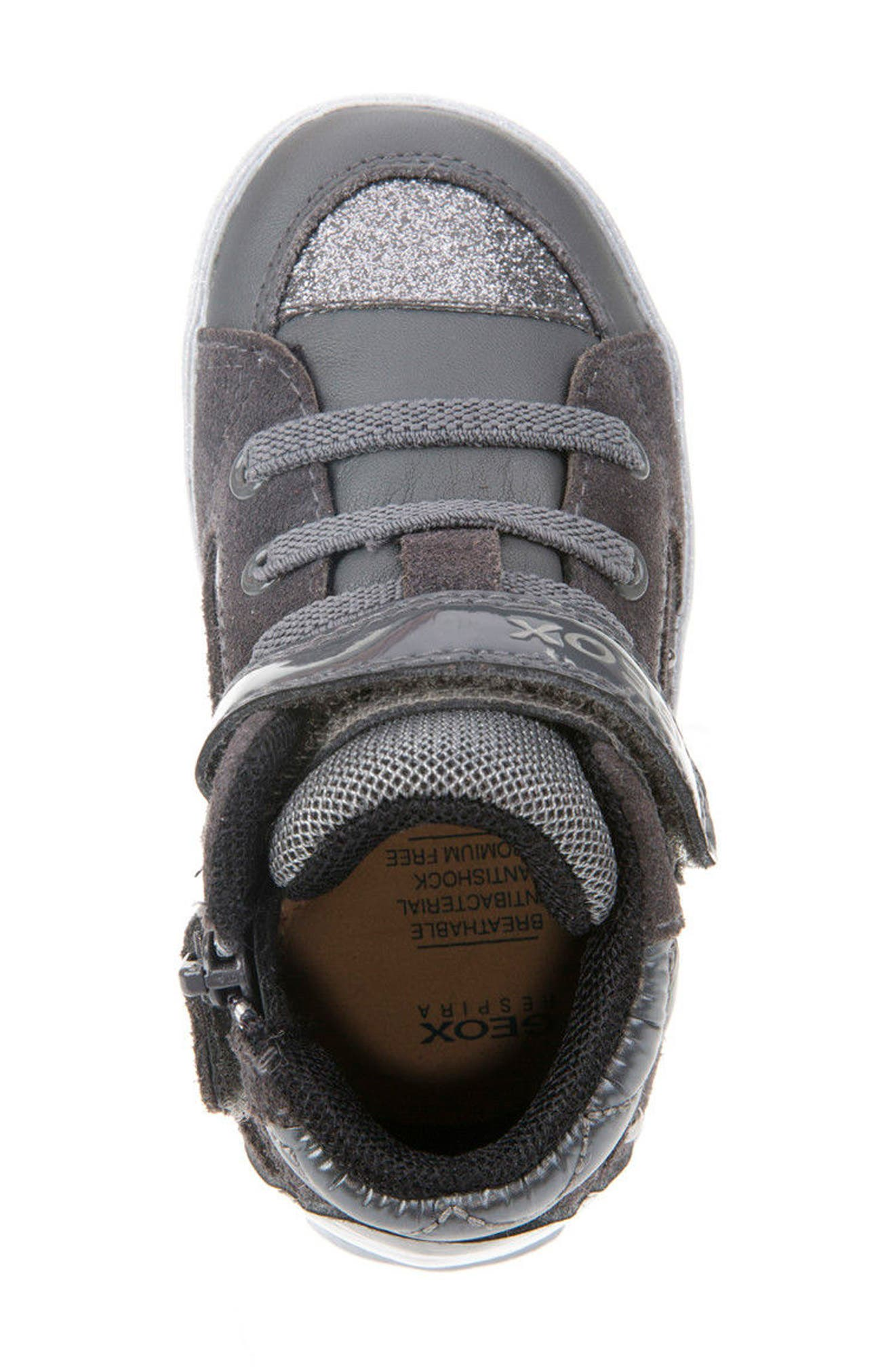 Kiwi Studded High Top Sneaker,                             Alternate thumbnail 5, color,                             020