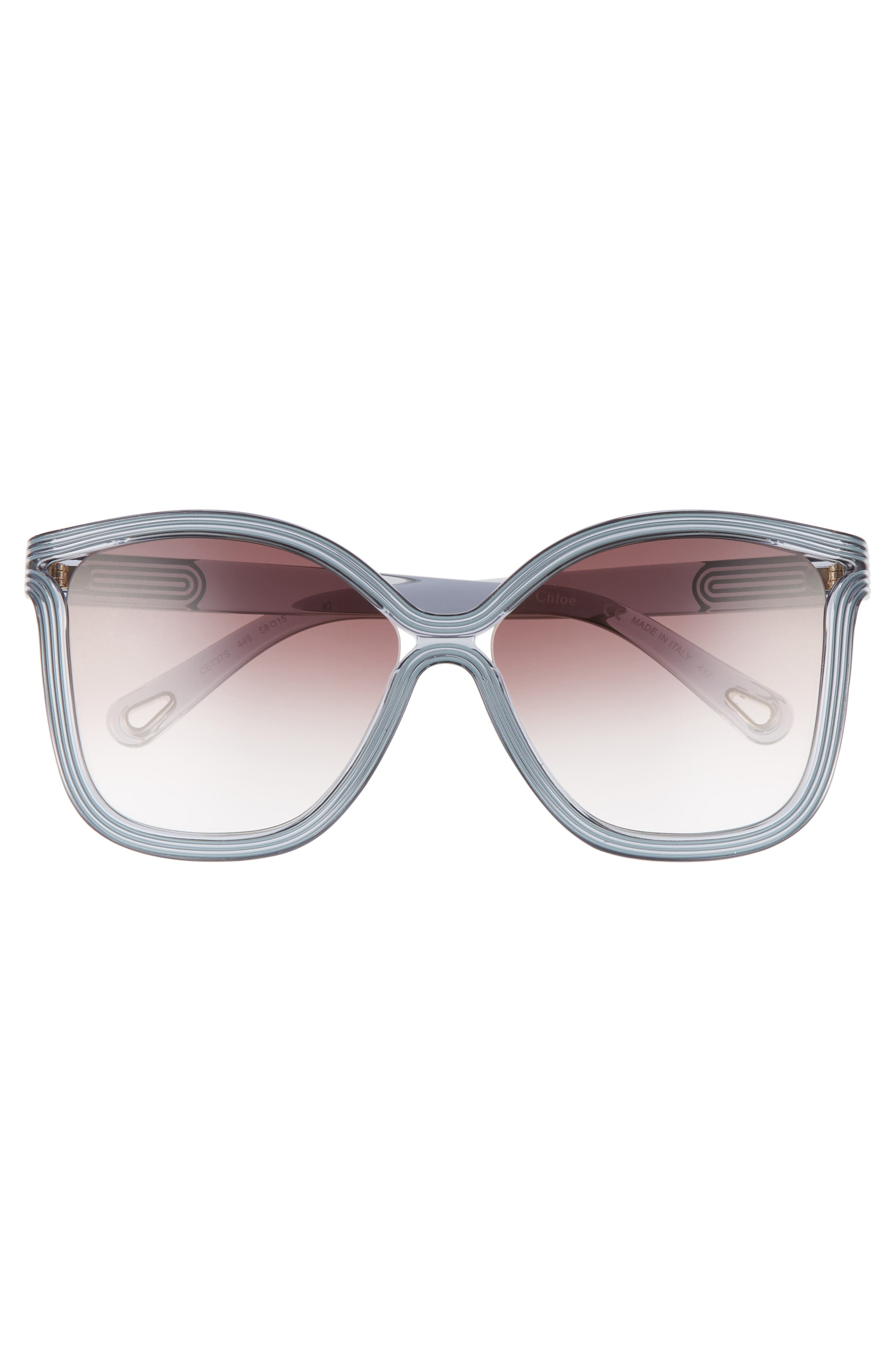 Grooves 58mm Rectangular Sunglasses,                             Alternate thumbnail 11, color,