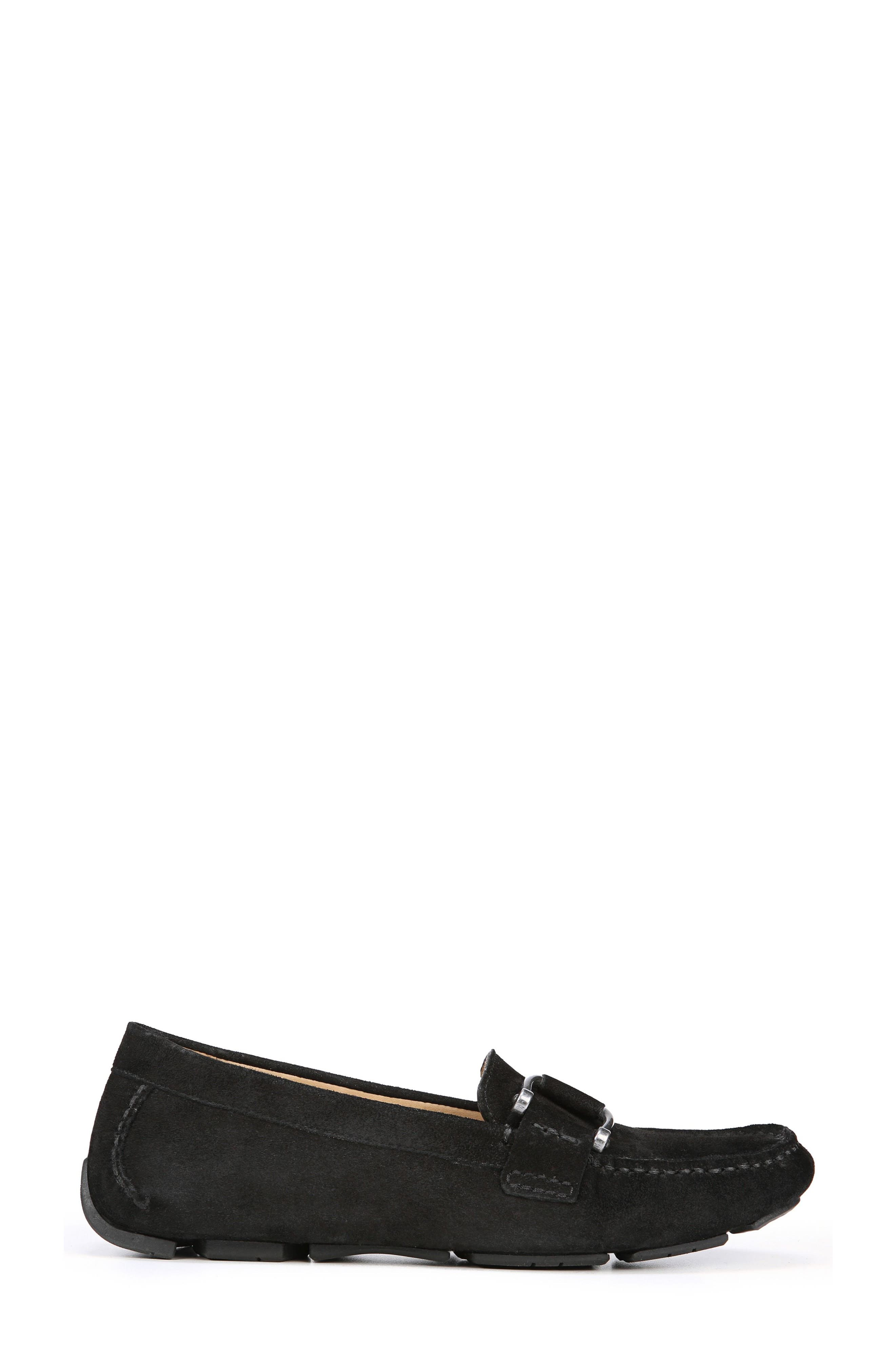 Nara Loafer,                             Alternate thumbnail 3, color,                             BLACK SUEDE
