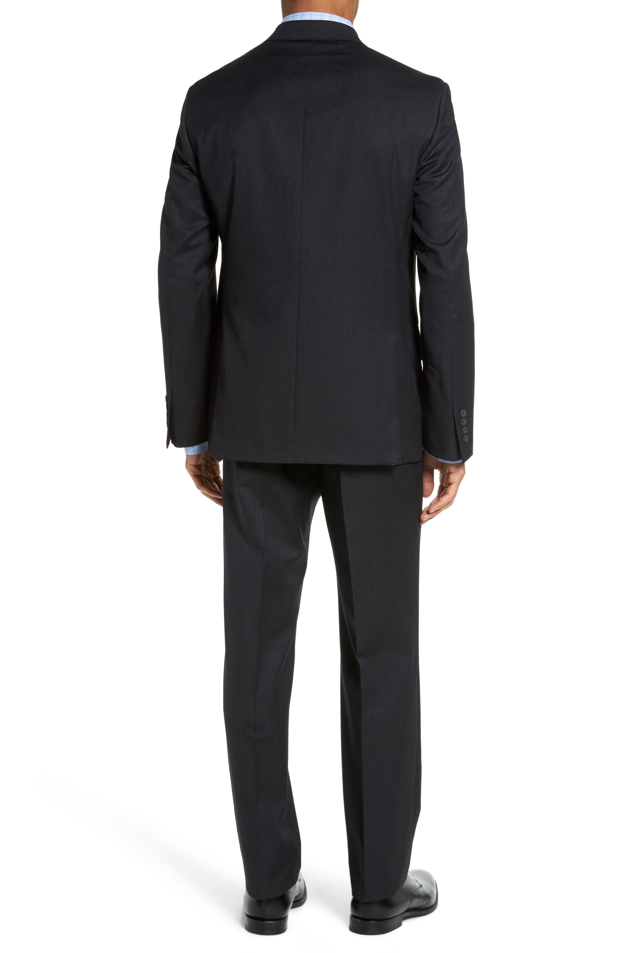 Classic Fit Check Wool Suit,                             Alternate thumbnail 5, color,