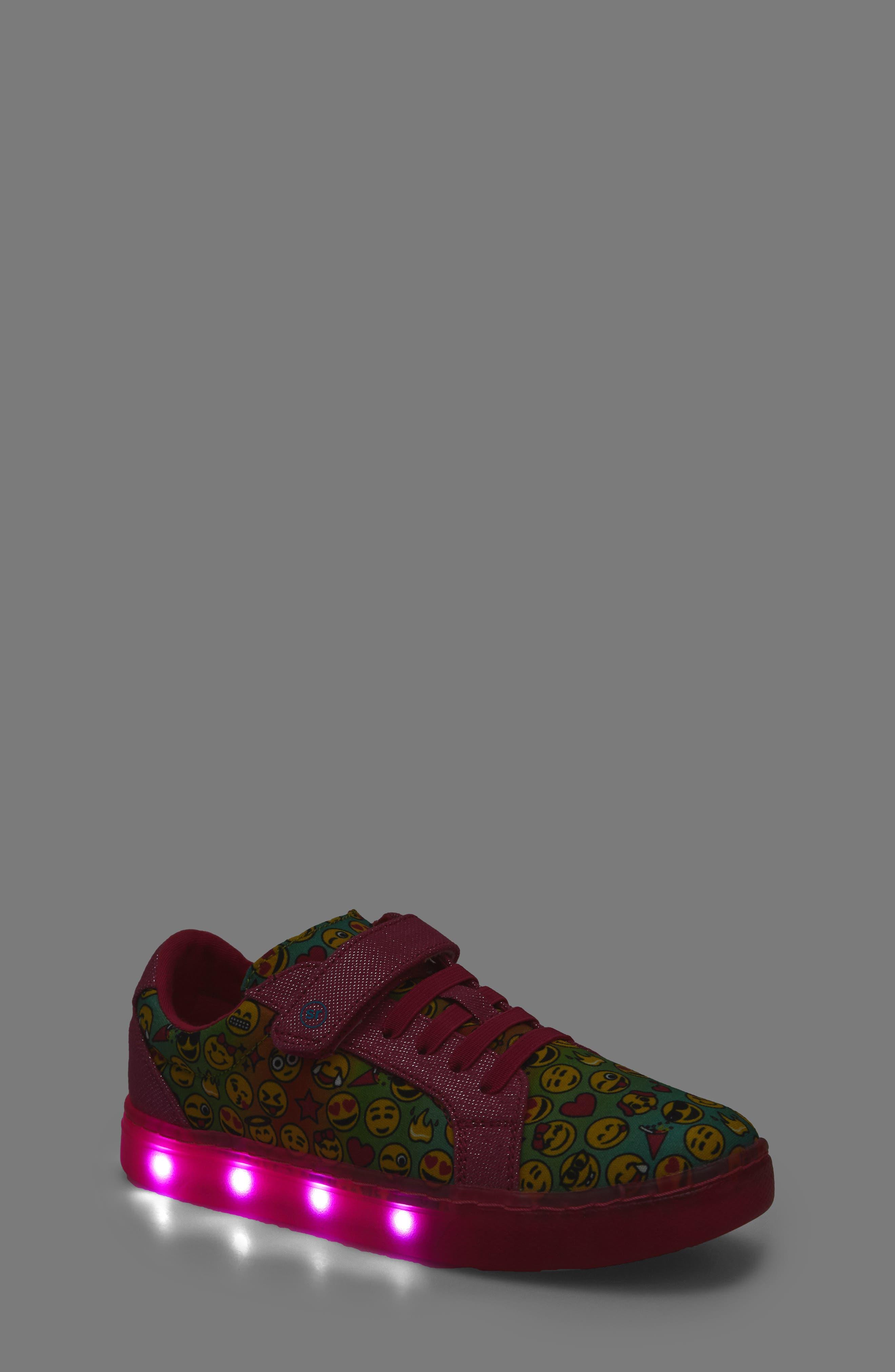 Raz Emoji Light-Up Sneaker,                             Alternate thumbnail 7, color,                             650