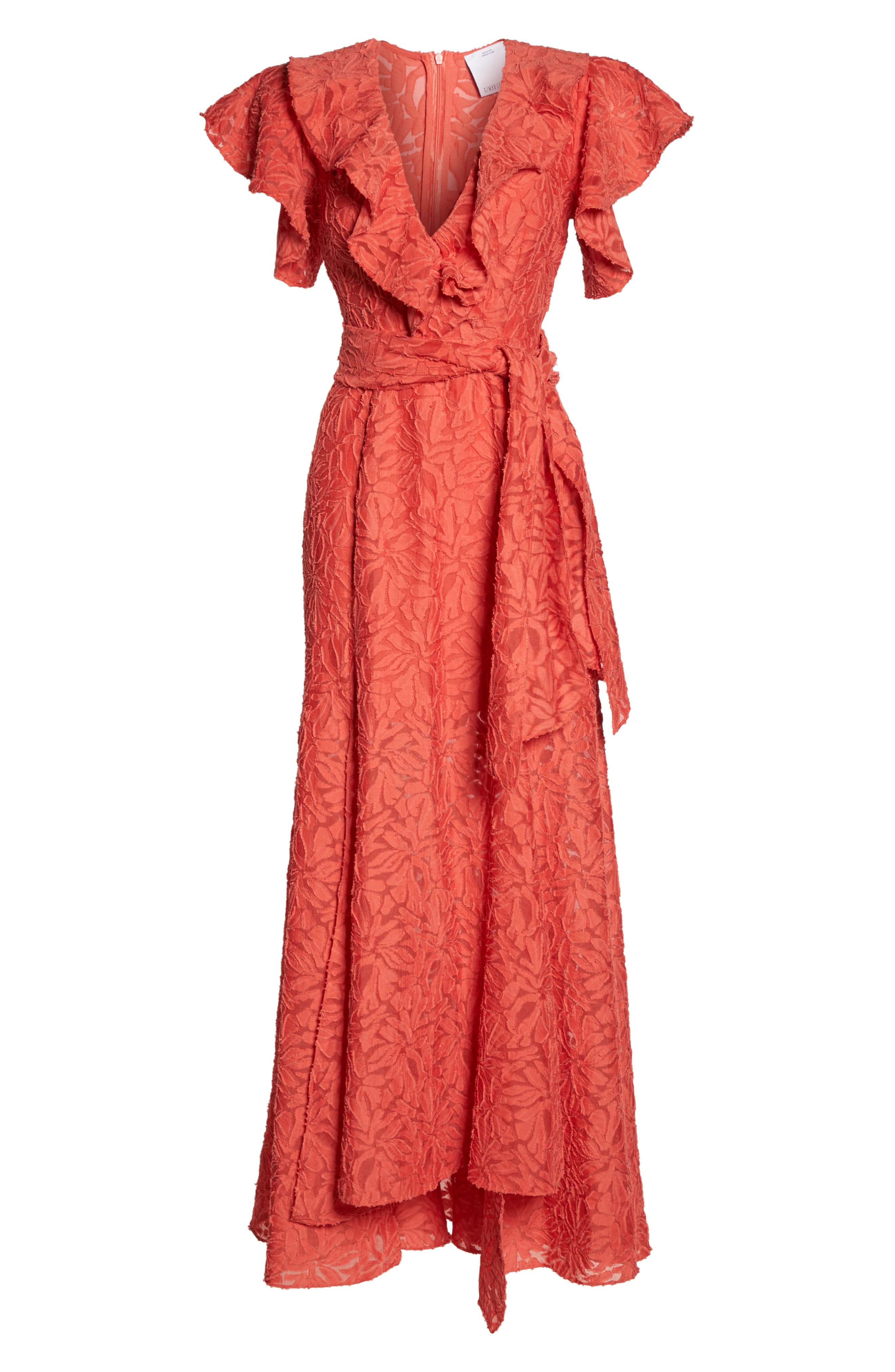 More To Give Ruffle Lace Gown,                             Alternate thumbnail 6, color,                             624