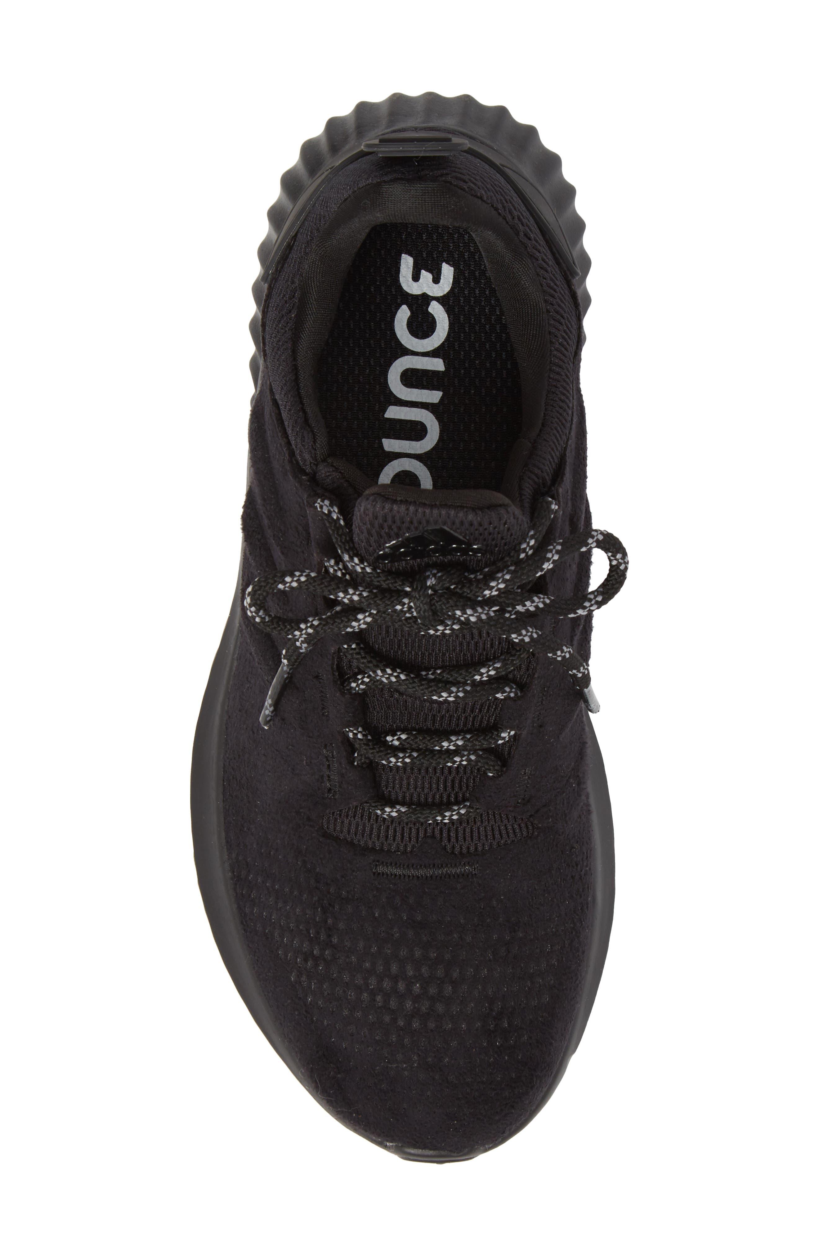 AlphaBounce CR Running Shoe,                             Alternate thumbnail 5, color,                             CORE BLACK/ CORE BLACK