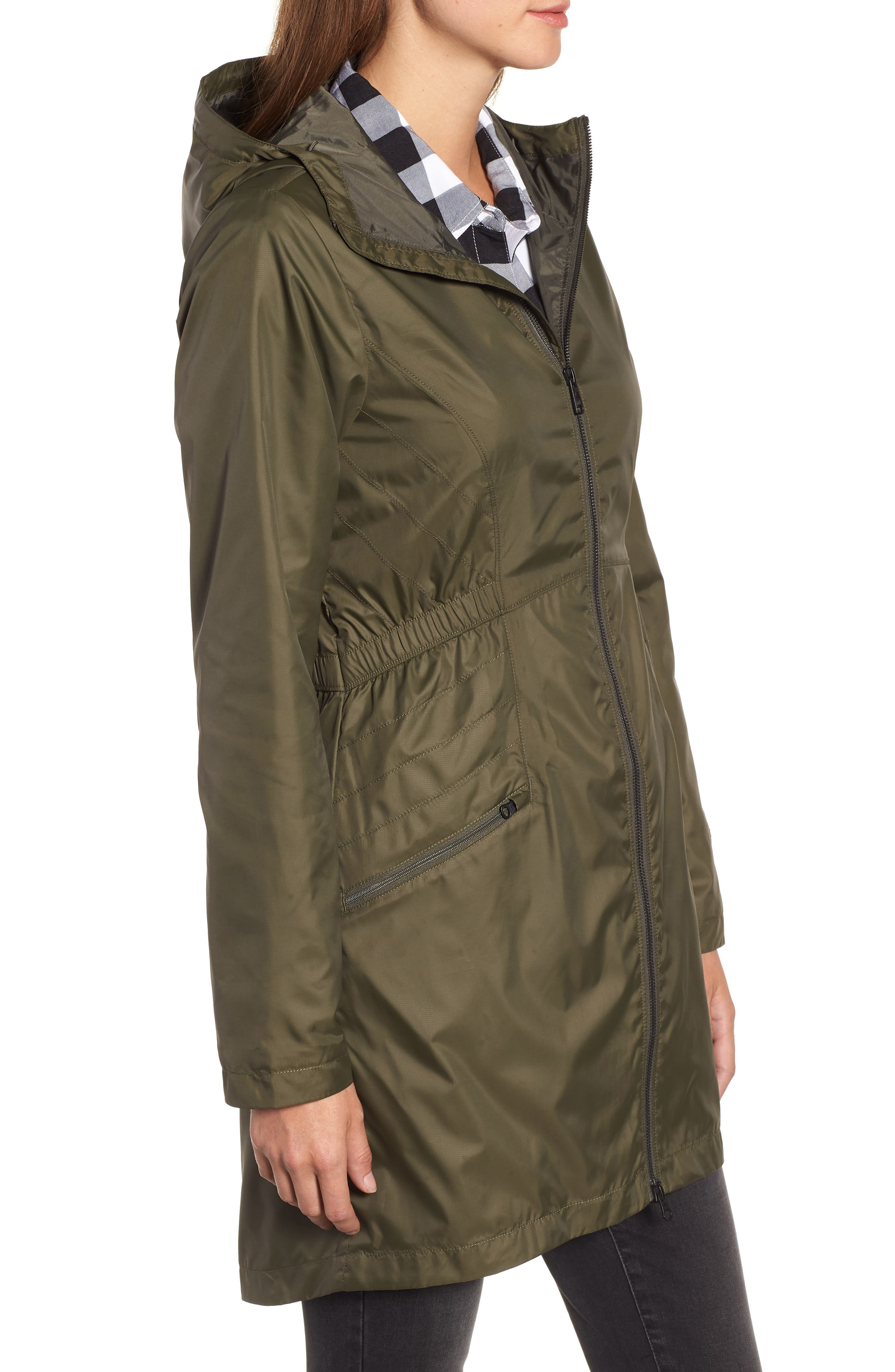 Rissy 2 Wind Resistant Jacket,                             Alternate thumbnail 3, color,                             NEW TAUPE GREEN