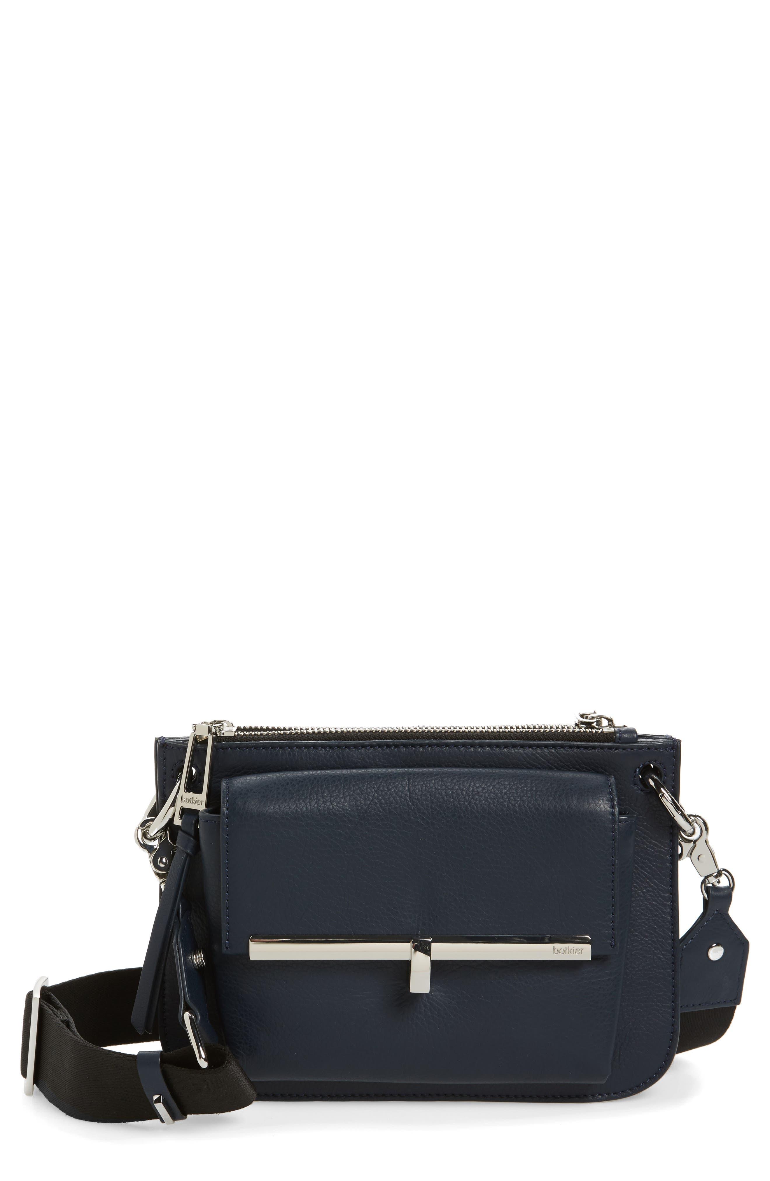 Bleeker Leather Double Shoulder Bag,                             Main thumbnail 4, color,
