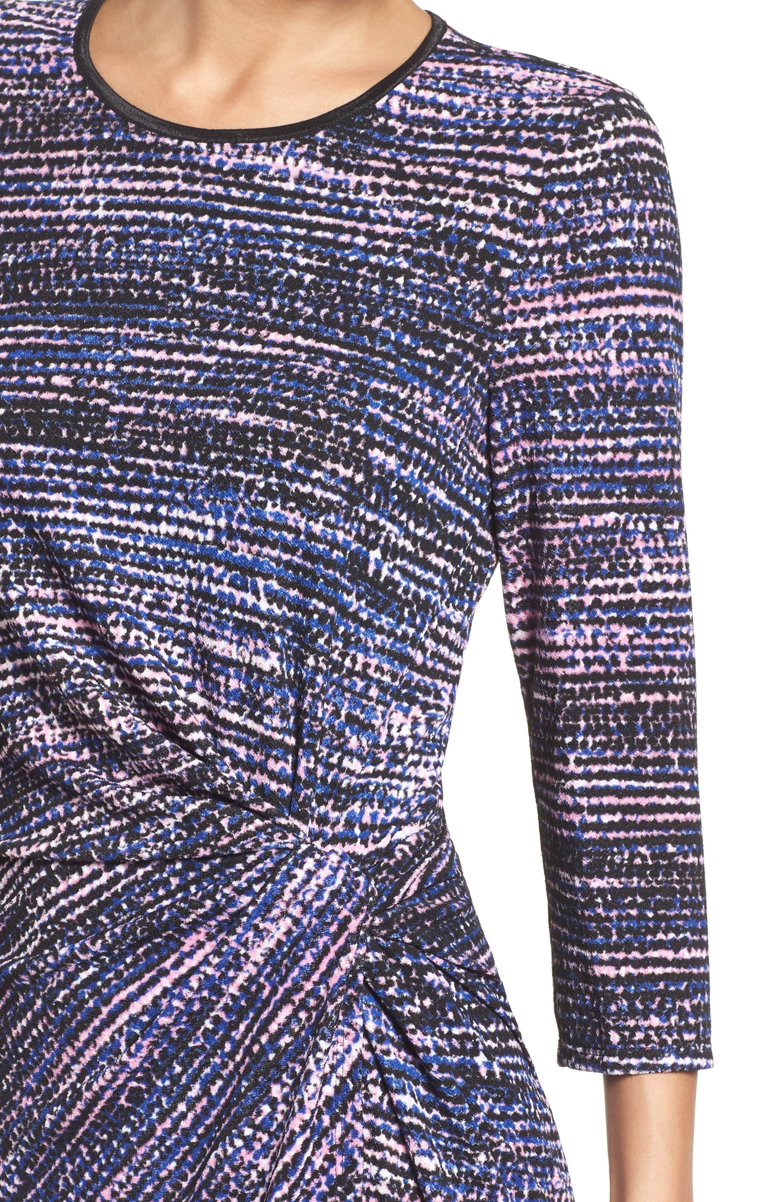 Faux Wrap Dress,                             Alternate thumbnail 4, color,                             654
