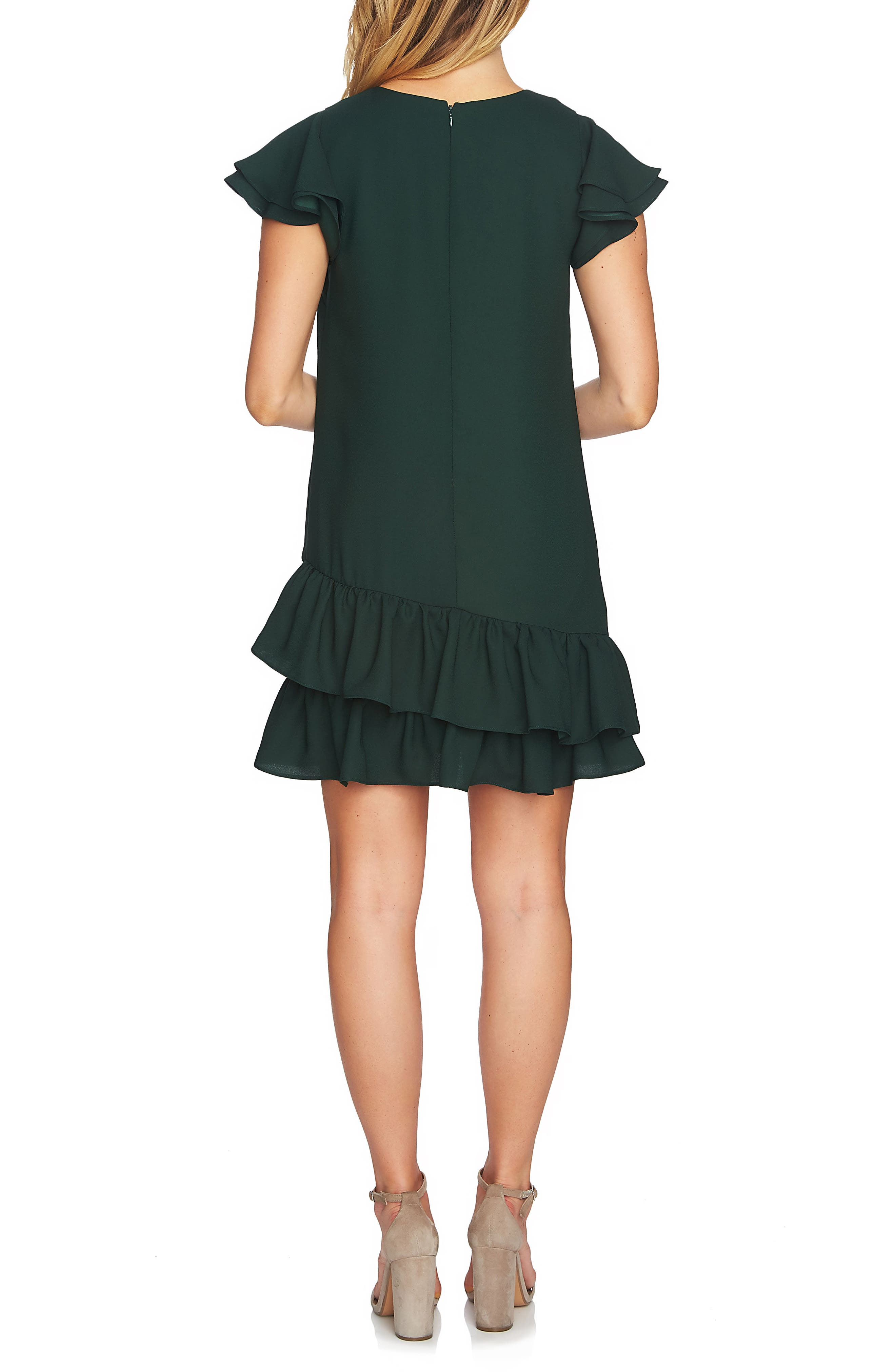 Claire Tiered Ruffle Dress,                             Alternate thumbnail 4, color,