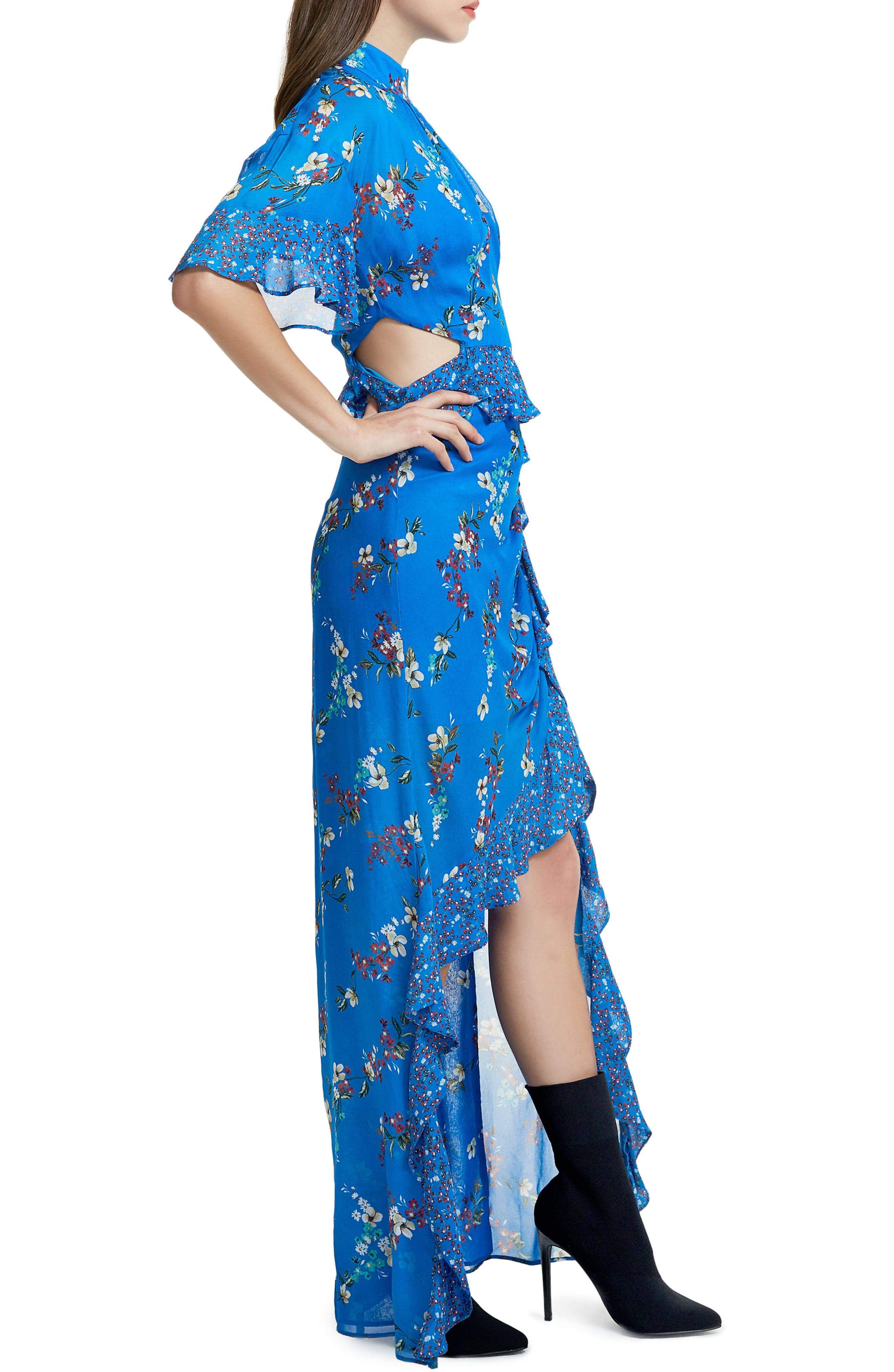 Melsa Cutout Maxi Dress,                             Alternate thumbnail 3, color,
