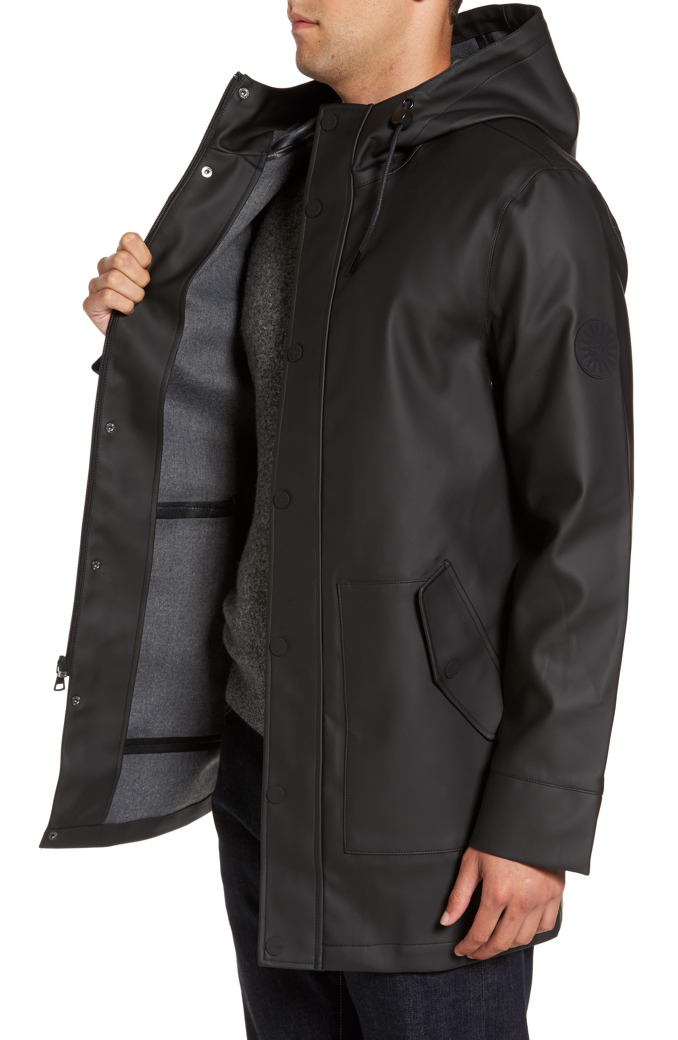 UGG<SUP>®</SUP>,                             Hooded Raincoat,                             Alternate thumbnail 3, color,                             001