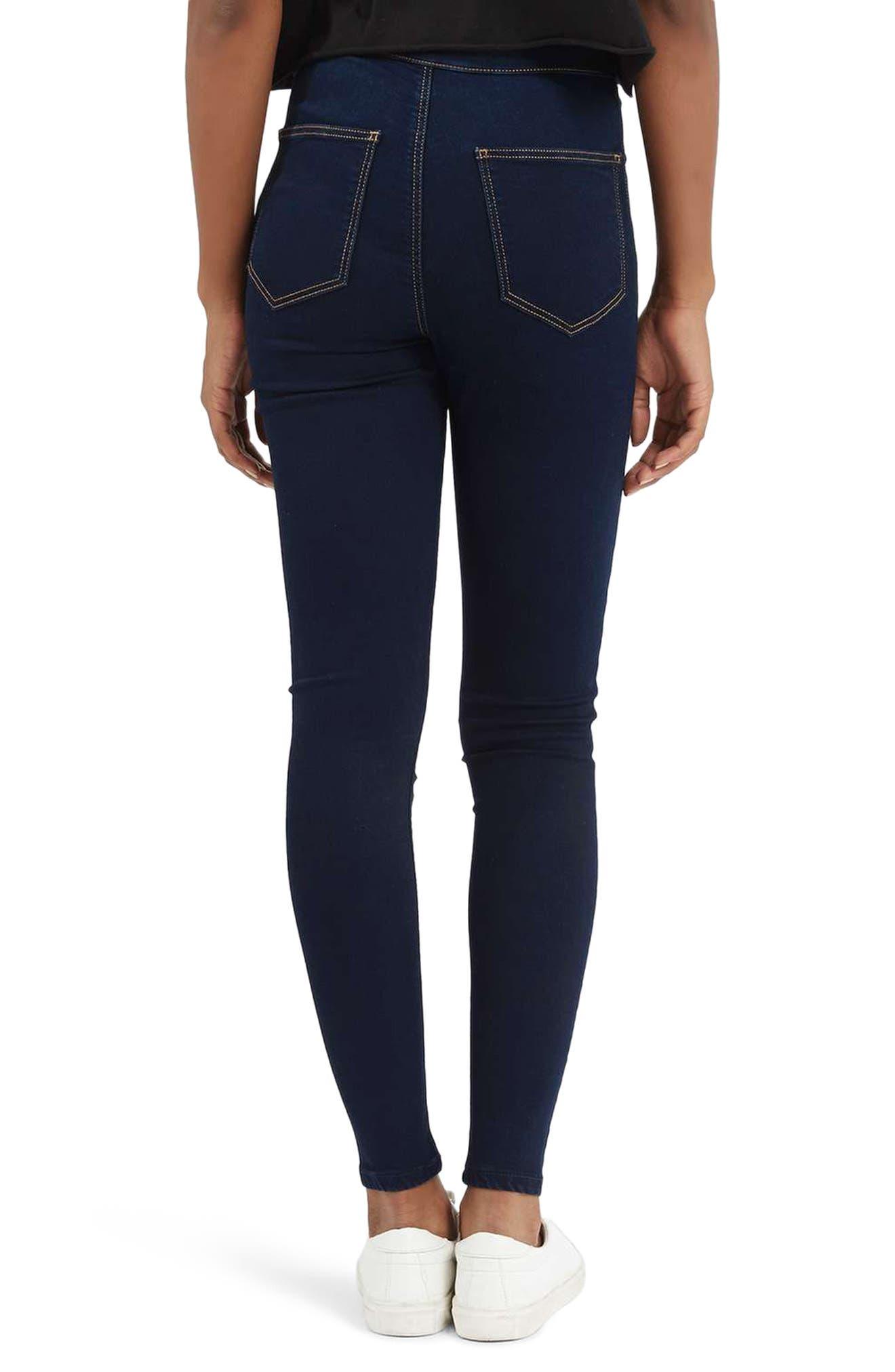 TOPSHOP,                             Joni High Waist Skinny Jeans,                             Alternate thumbnail 2, color,                             400