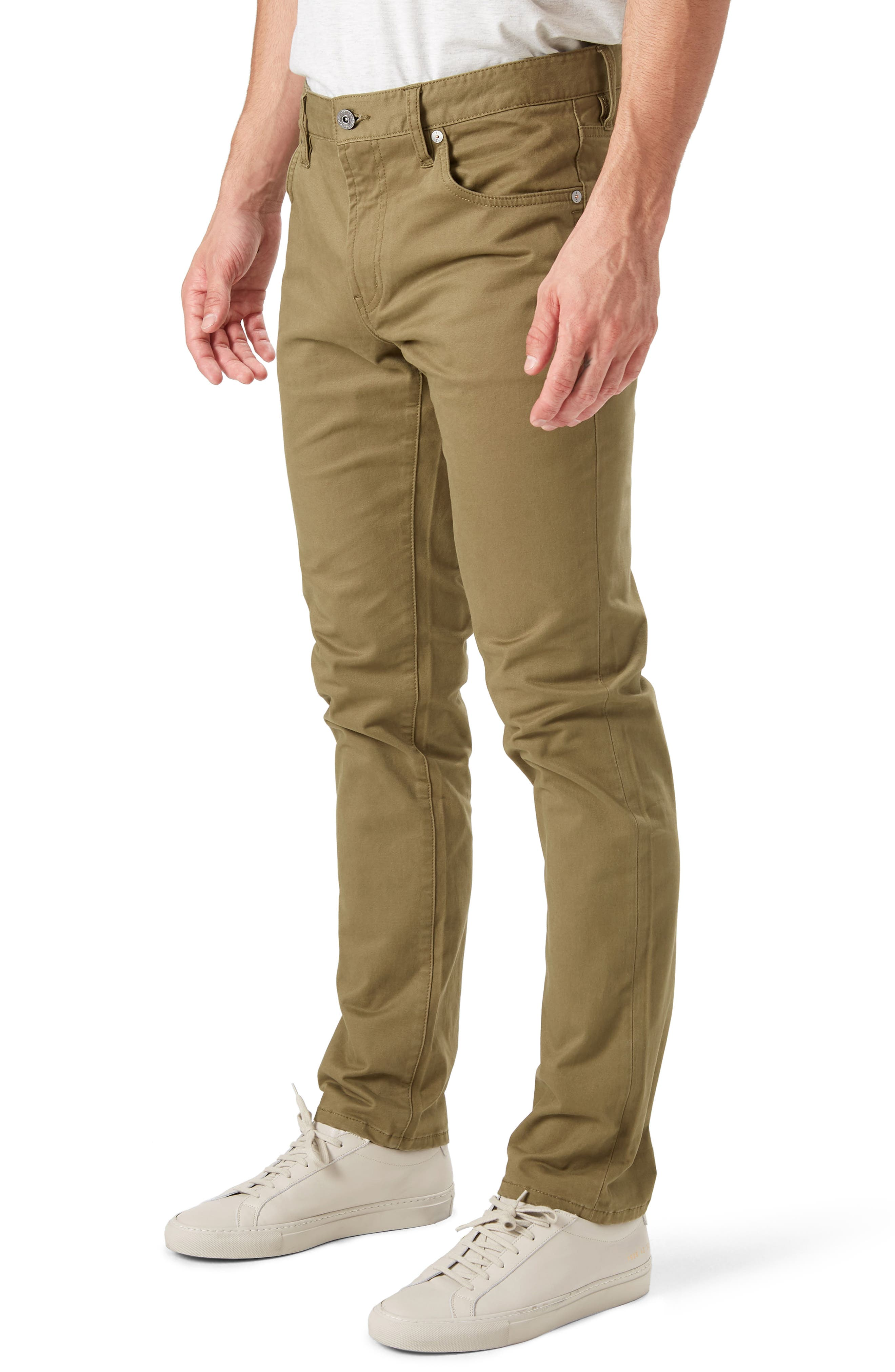 Brushed Twill Five-Pocket Pants,                             Alternate thumbnail 3, color,                             CHIP
