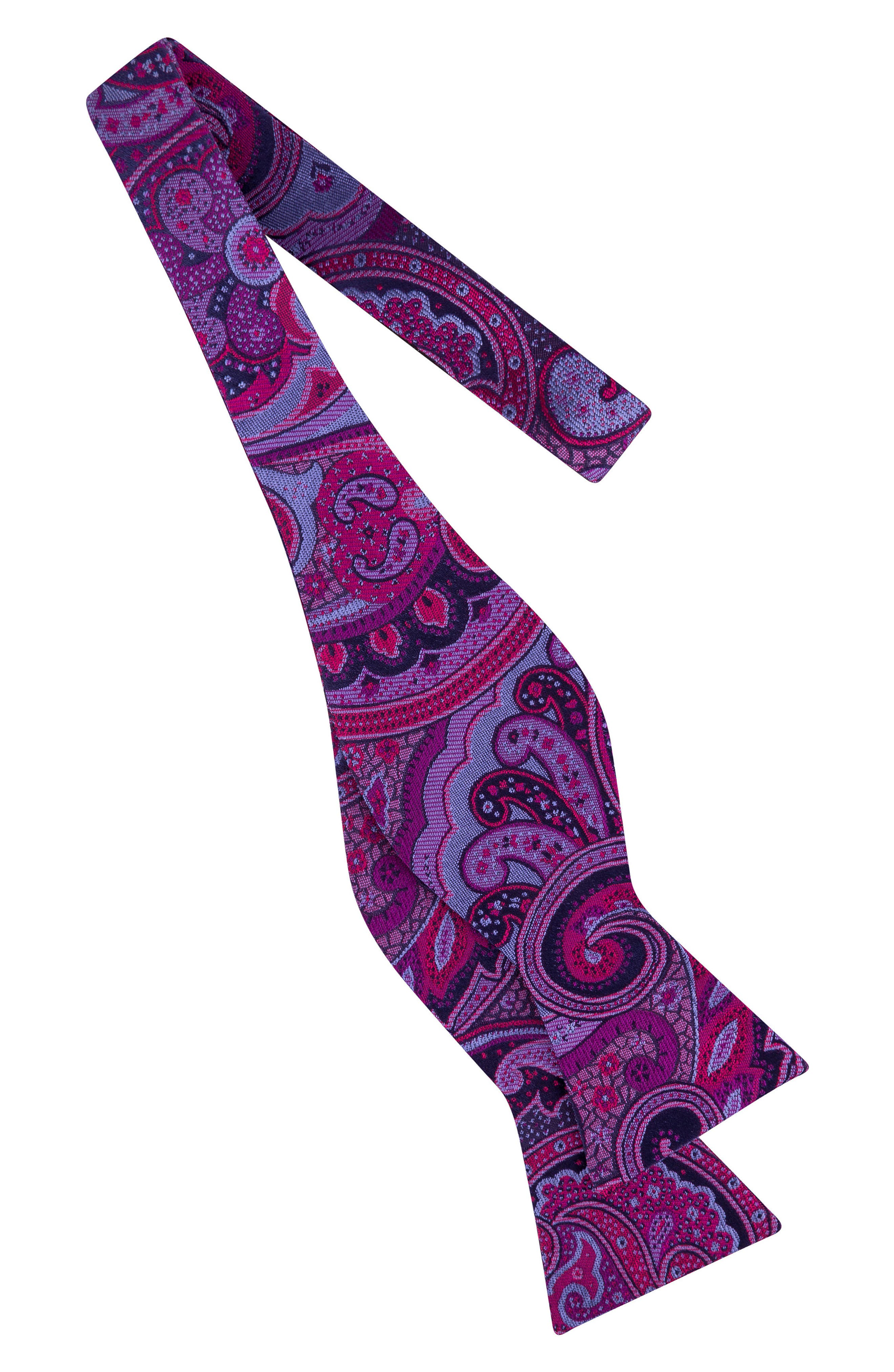 Paisley Silk Bow Tie,                             Alternate thumbnail 7, color,