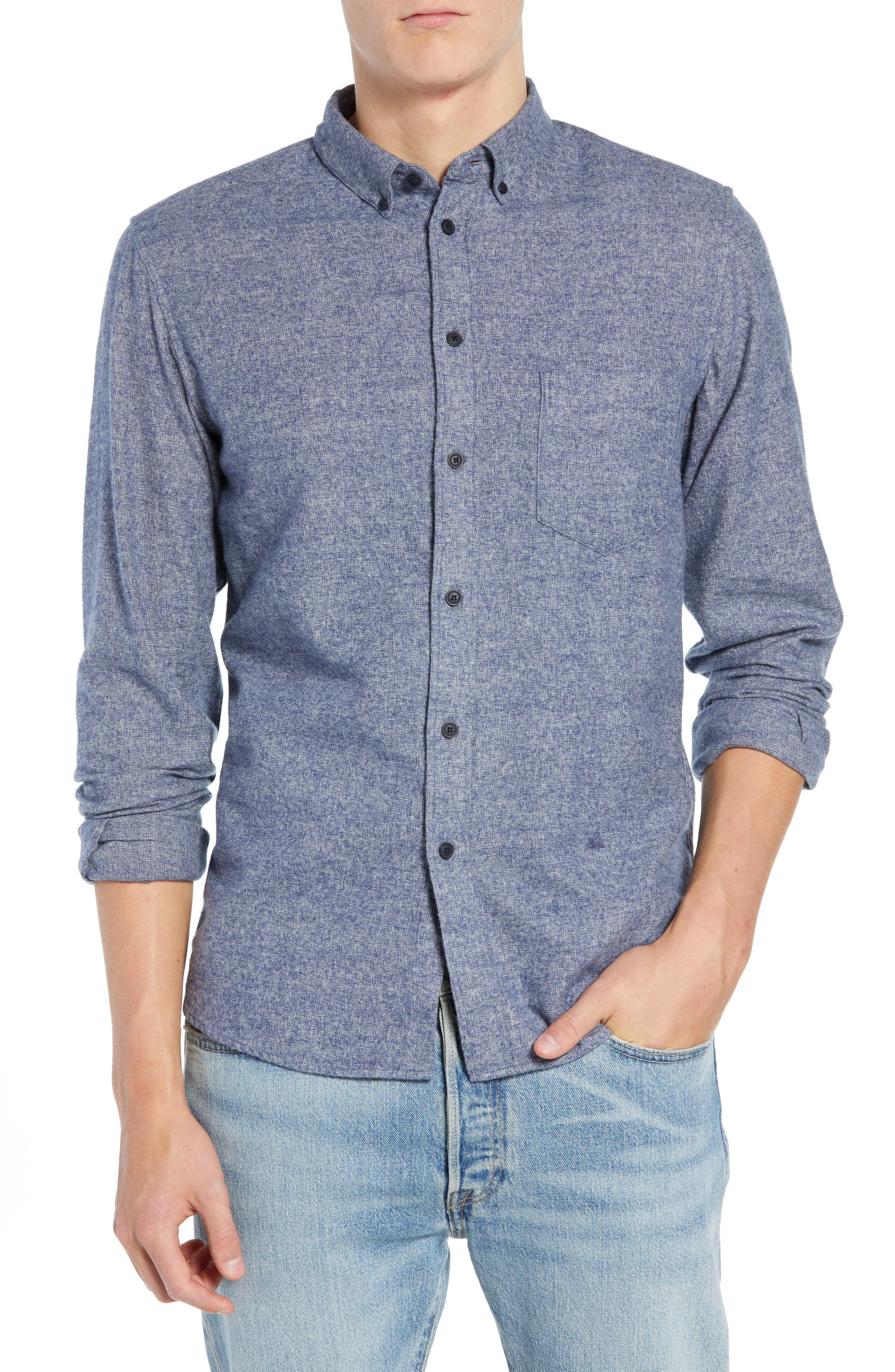 Levi's<sup>®</sup> Made & Crafted Standard Regular Fit Twill Shirt,                             Main thumbnail 1, color,                             400
