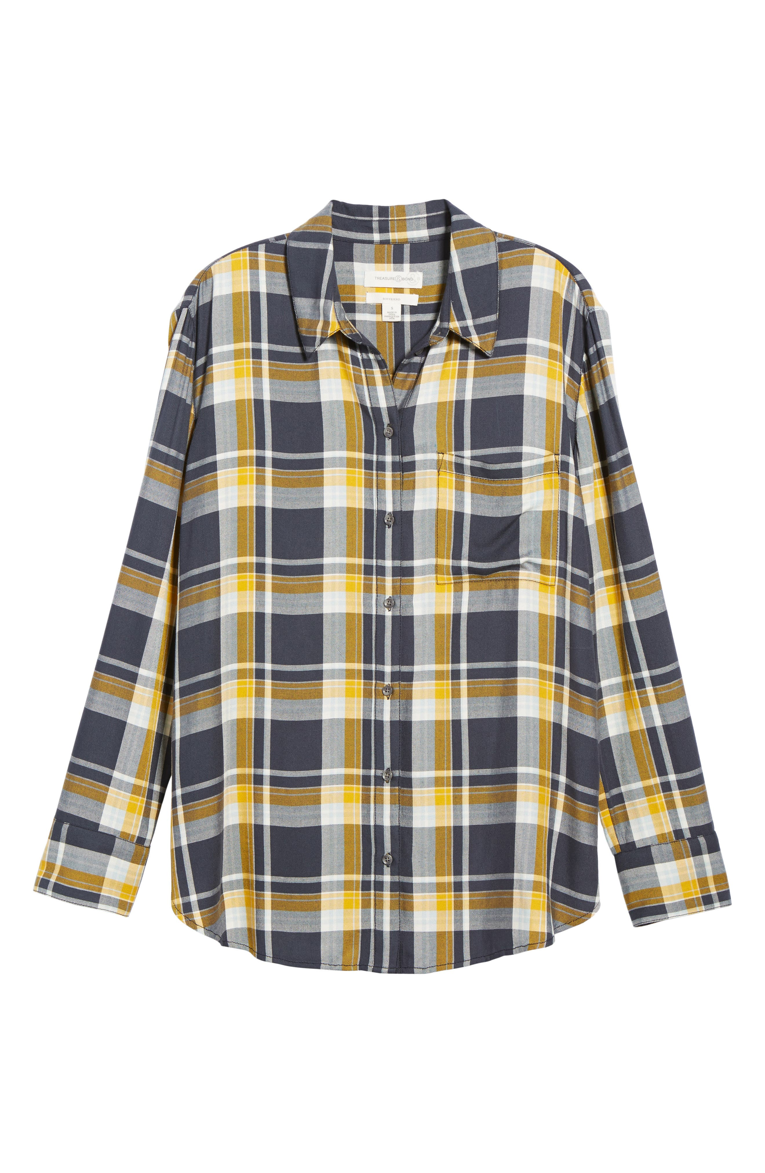 Plaid Boyfriend Shirt,                             Alternate thumbnail 27, color,