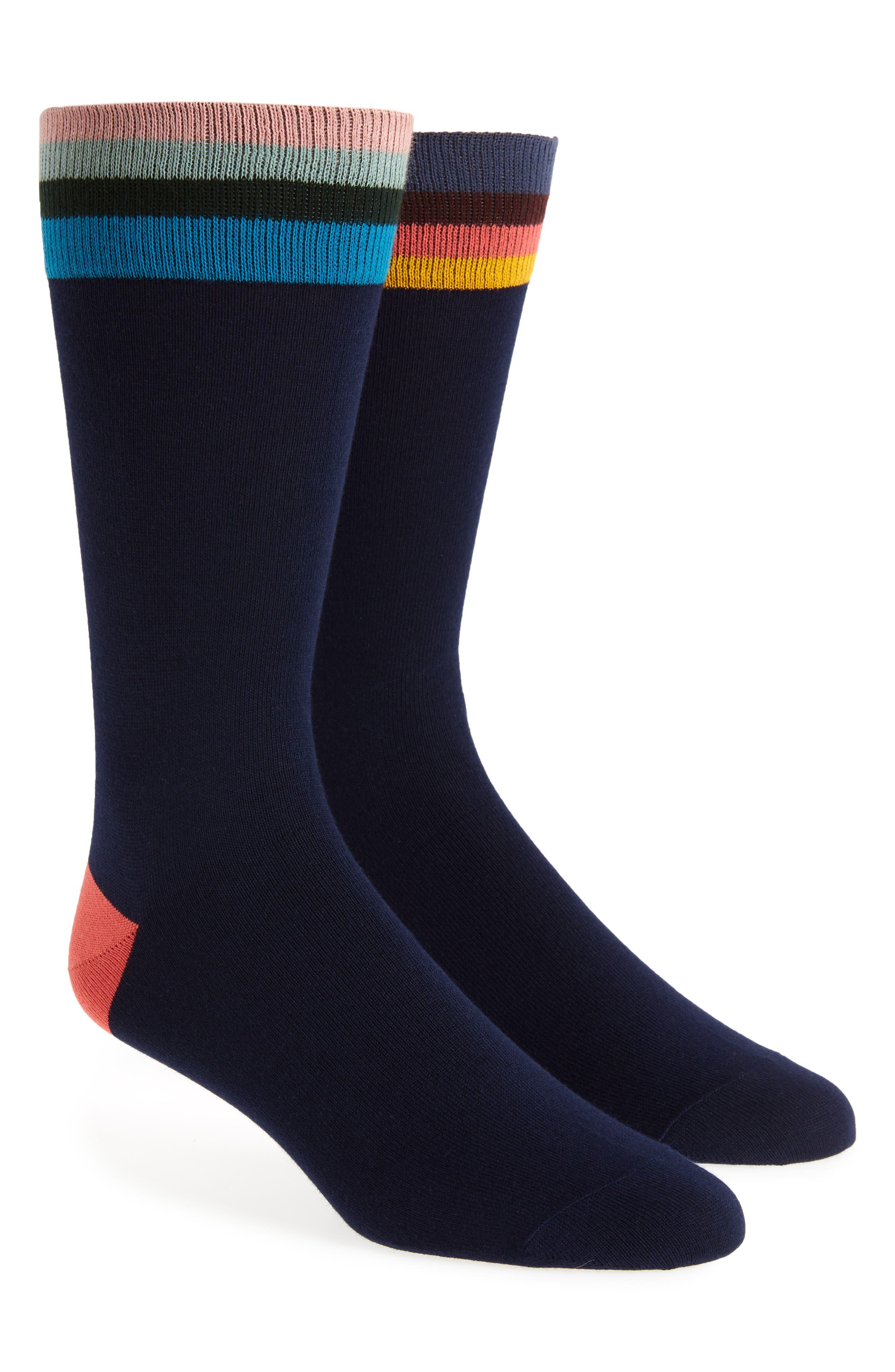 Mismatched Artist Top Socks,                             Main thumbnail 1, color,                             BLACK MULTI