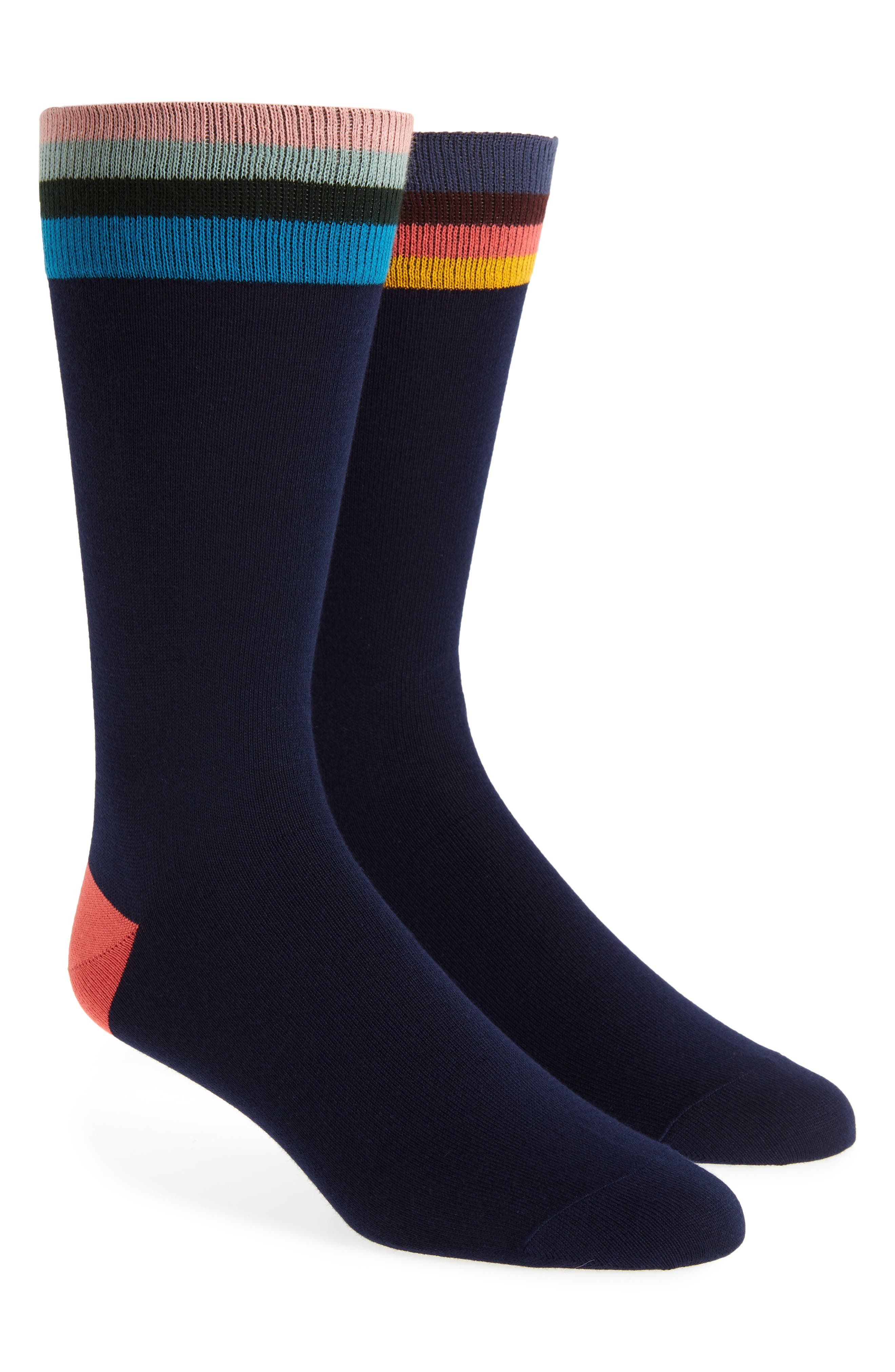 Mismatched Artist Top Socks,                         Main,                         color, BLACK MULTI