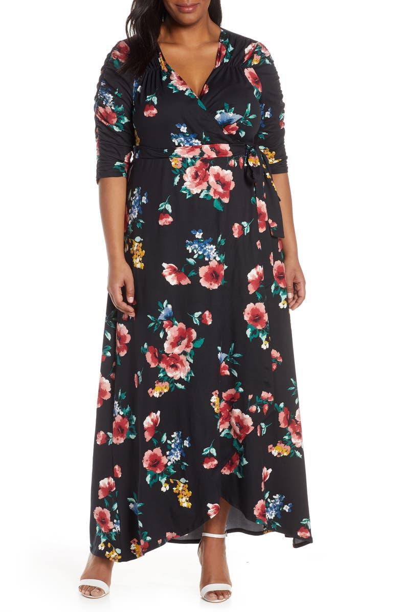 Meadow Dream Wrap Maxi Dress