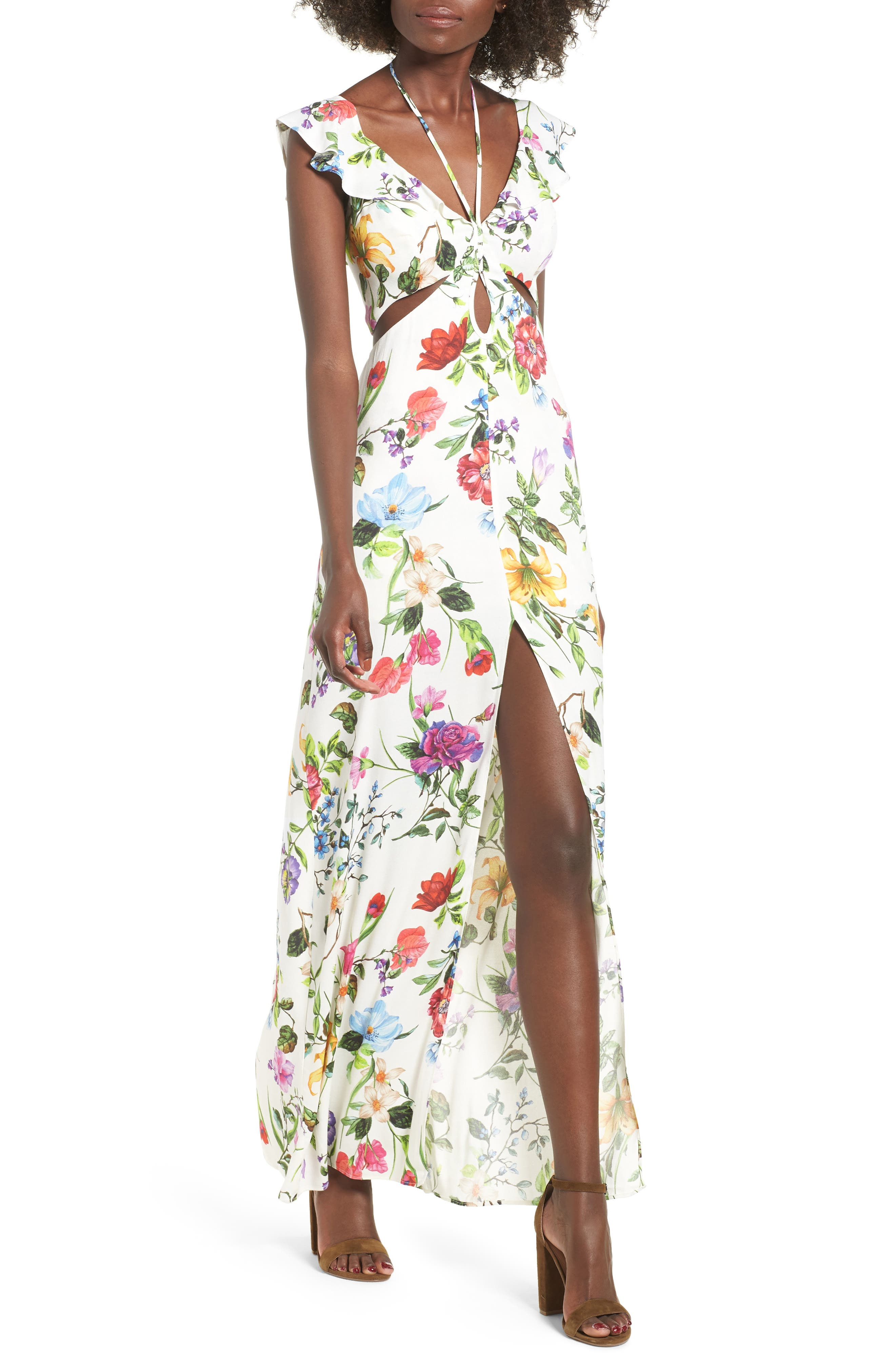 Alya Maxi Dress,                             Main thumbnail 1, color,                             JARDIN BLANC