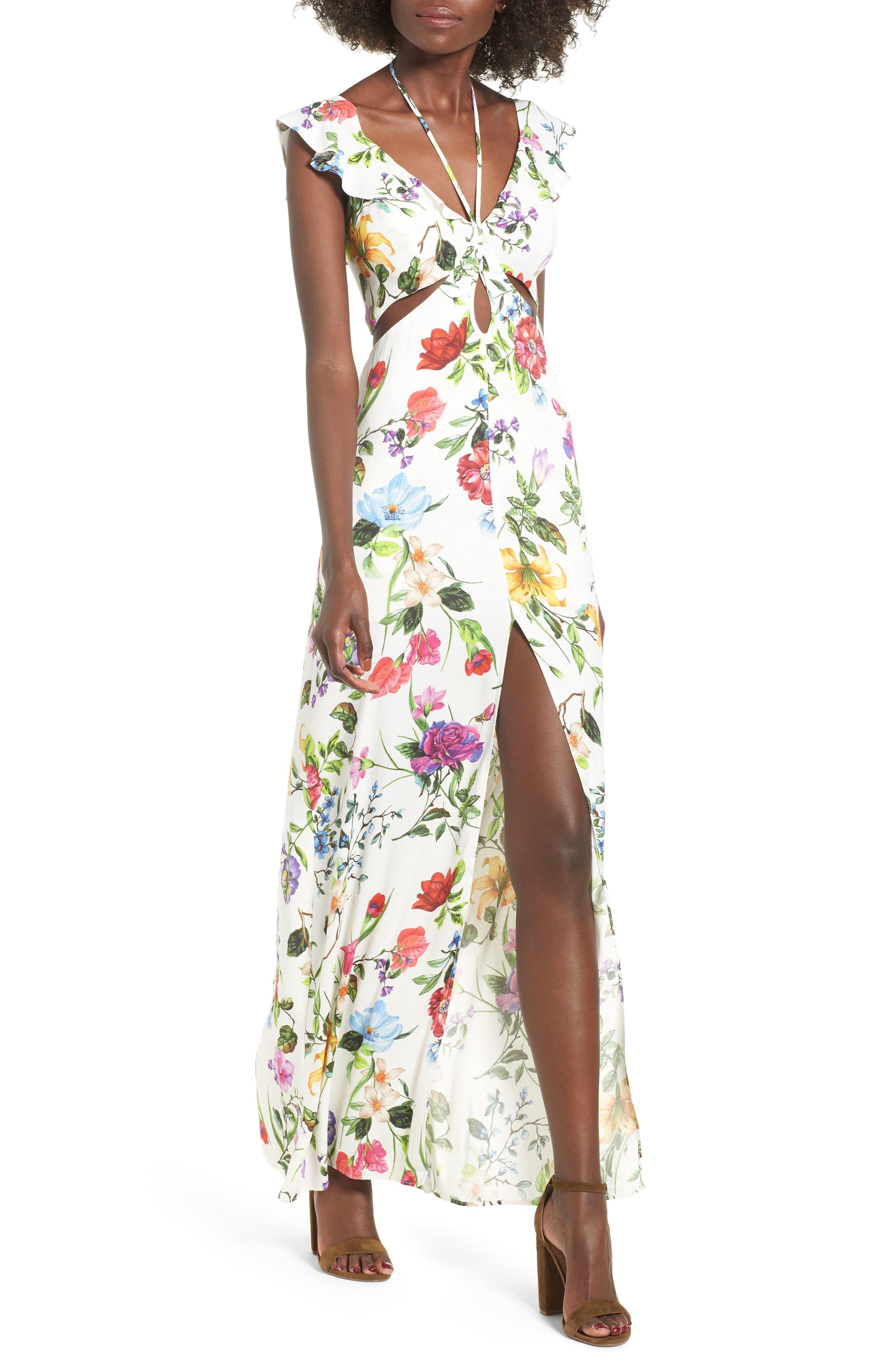 Alya Maxi Dress,                         Main,                         color, JARDIN BLANC
