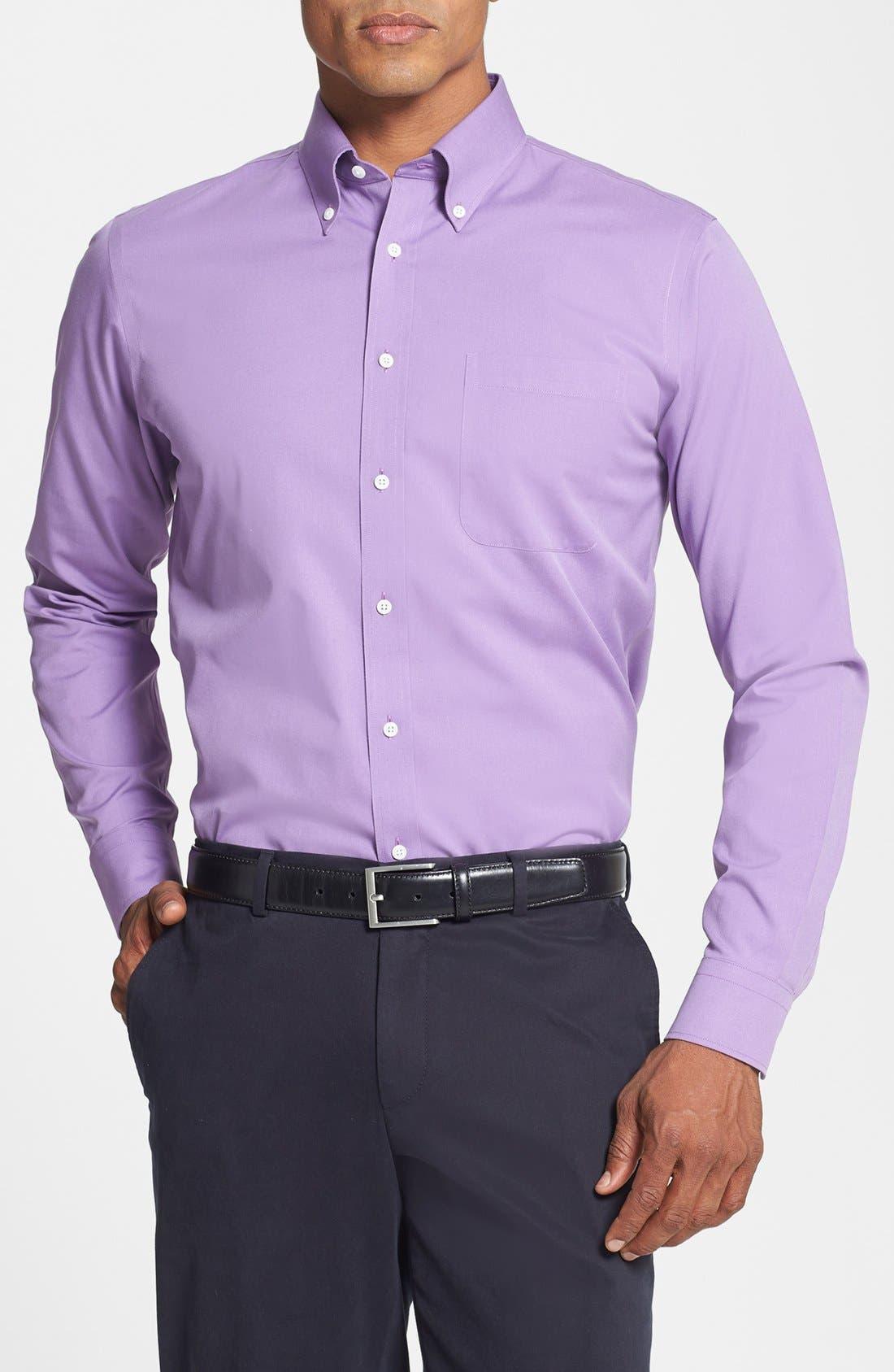 Smartcare<sup>™</sup> Trim Fit Solid Dress Shirt,                             Main thumbnail 14, color,