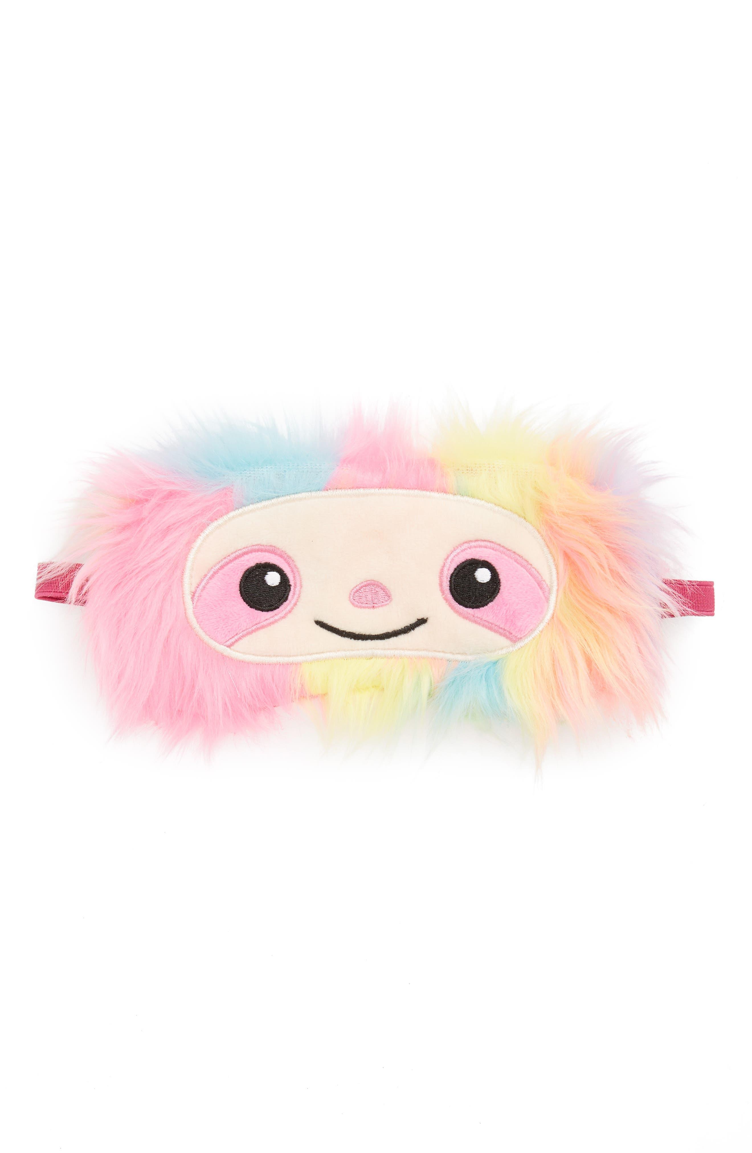 Sloth Eye Mask,                             Main thumbnail 1, color,                             PINK