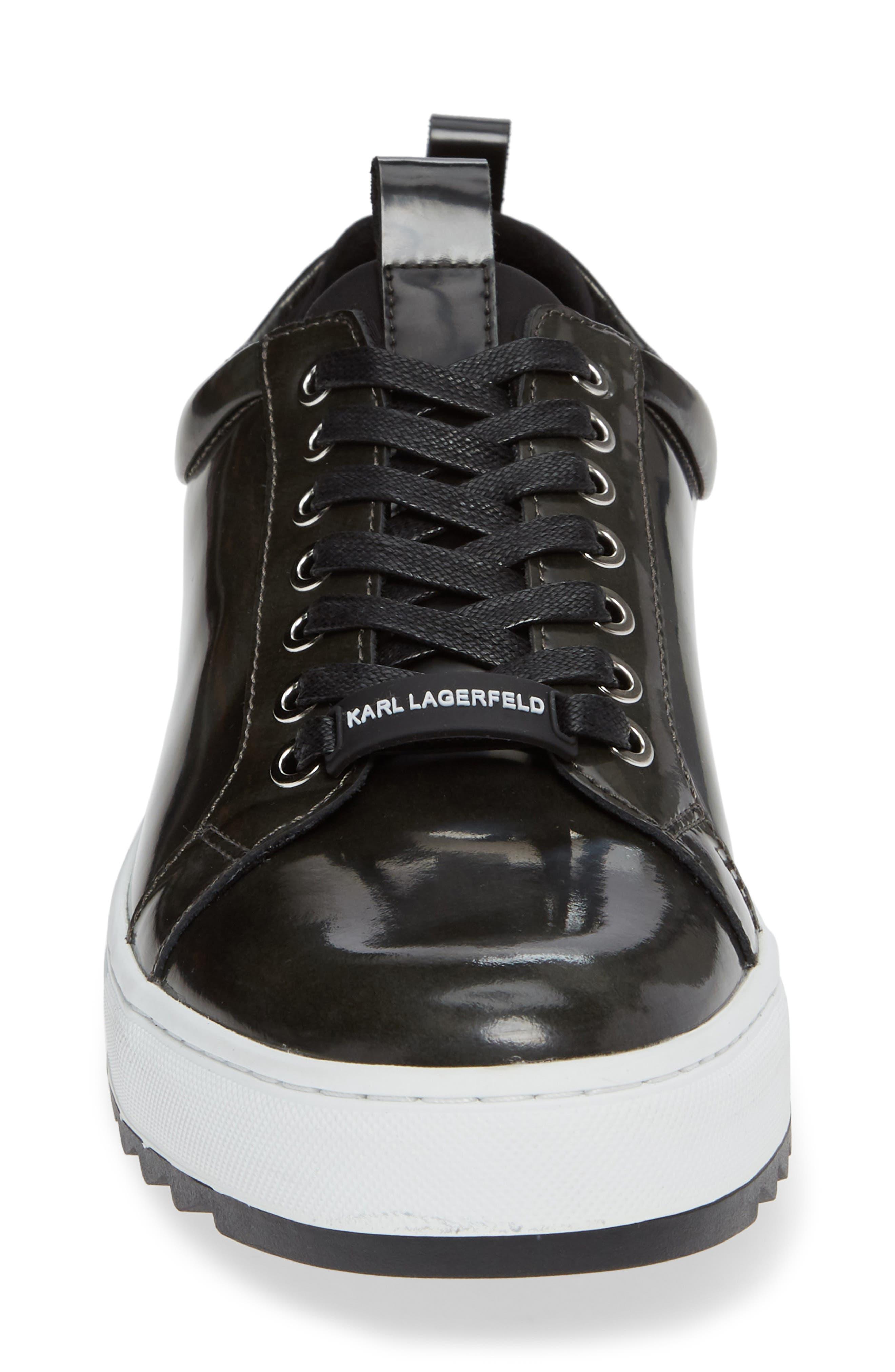 Box Inner Sock Sneaker,                             Alternate thumbnail 4, color,                             DARK GREY