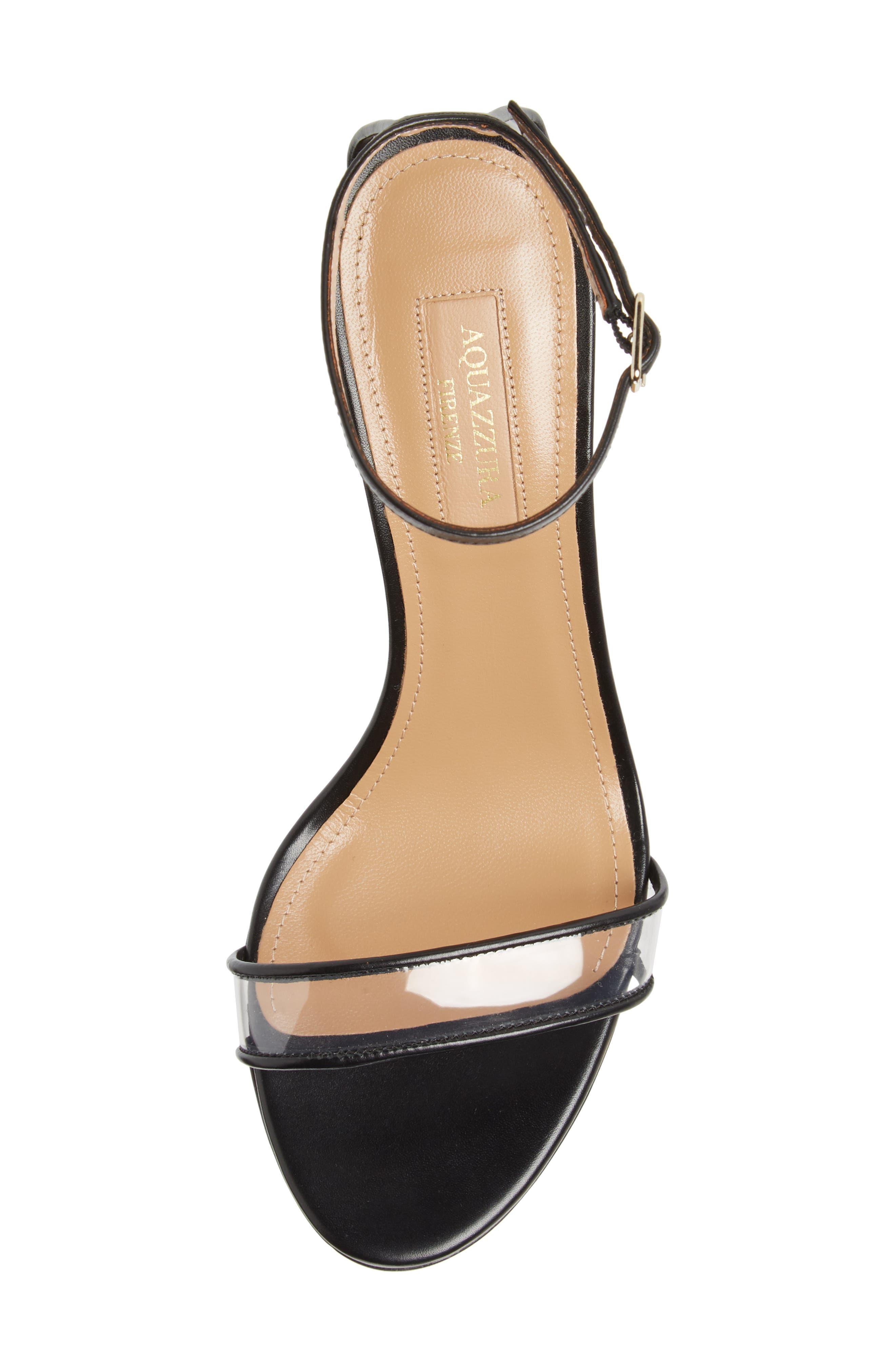 Minimalist Clear Sandal,                             Alternate thumbnail 5, color,                             BLACK