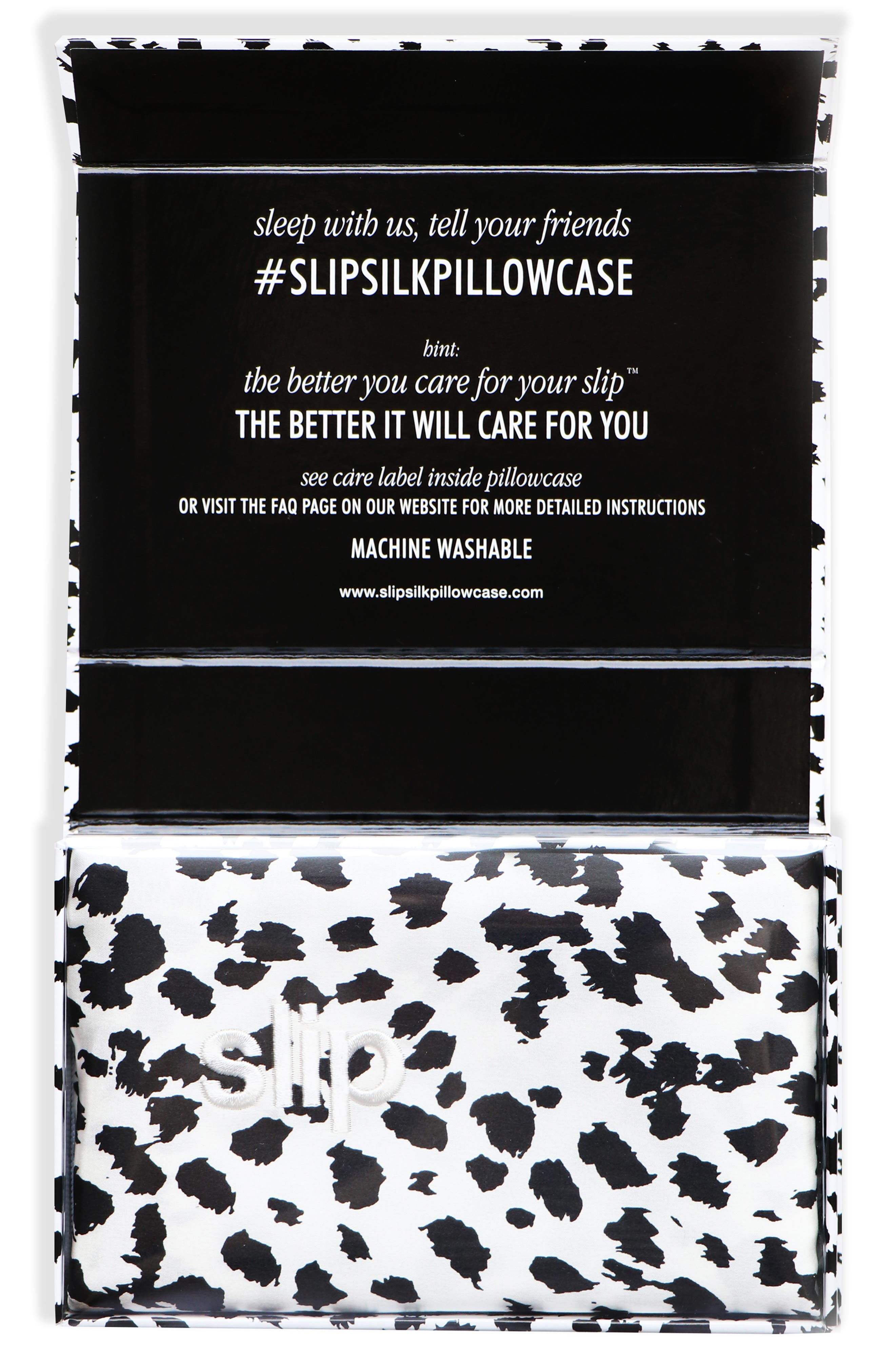 slip<sup>™</sup> for beauty sleep<sup>™</sup> Black & White Leopard Pillowcase,                             Alternate thumbnail 3, color,                             NO COLOR
