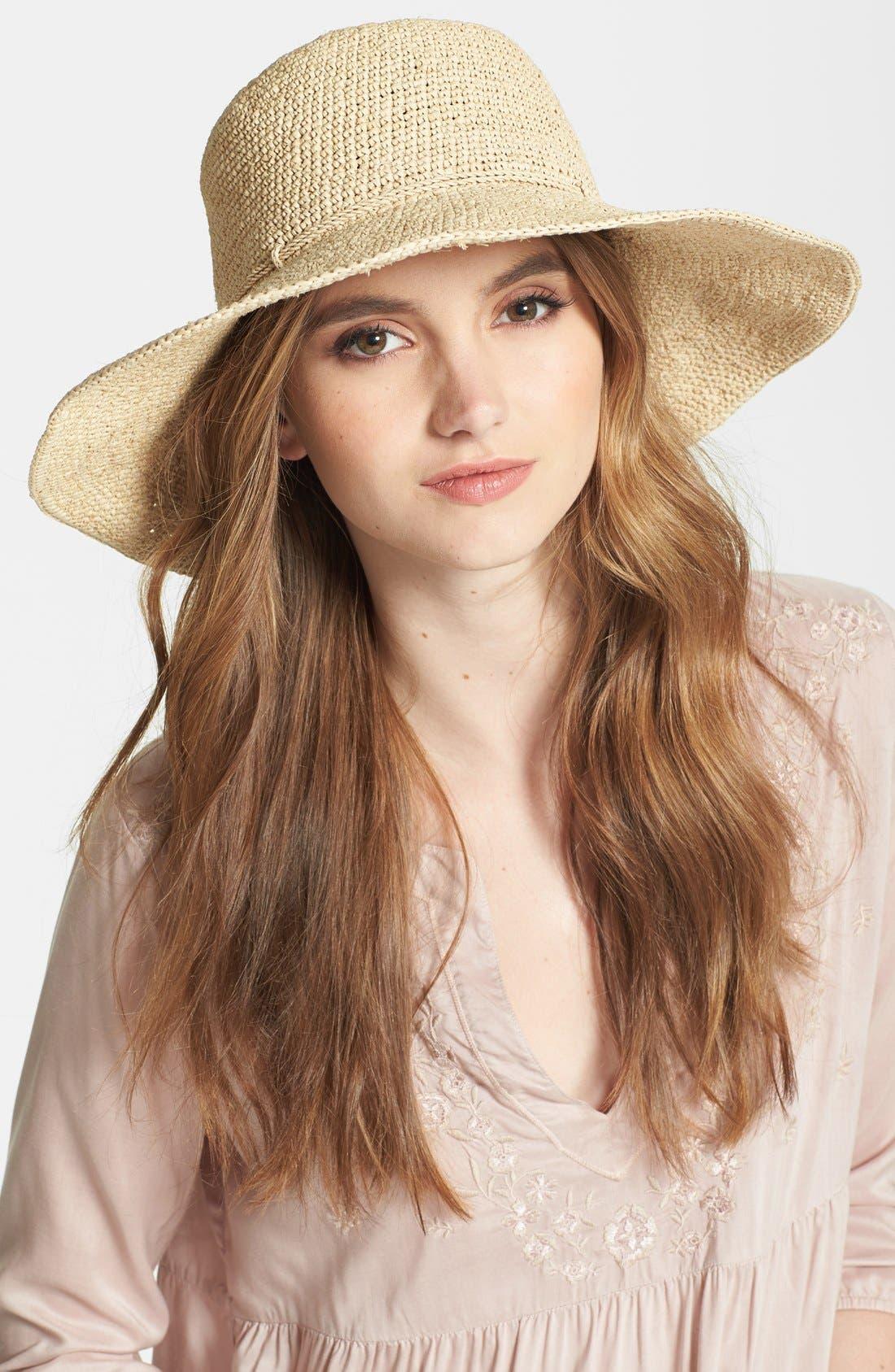 Tahani Raffia Hat,                         Main,                         color, NATURAL