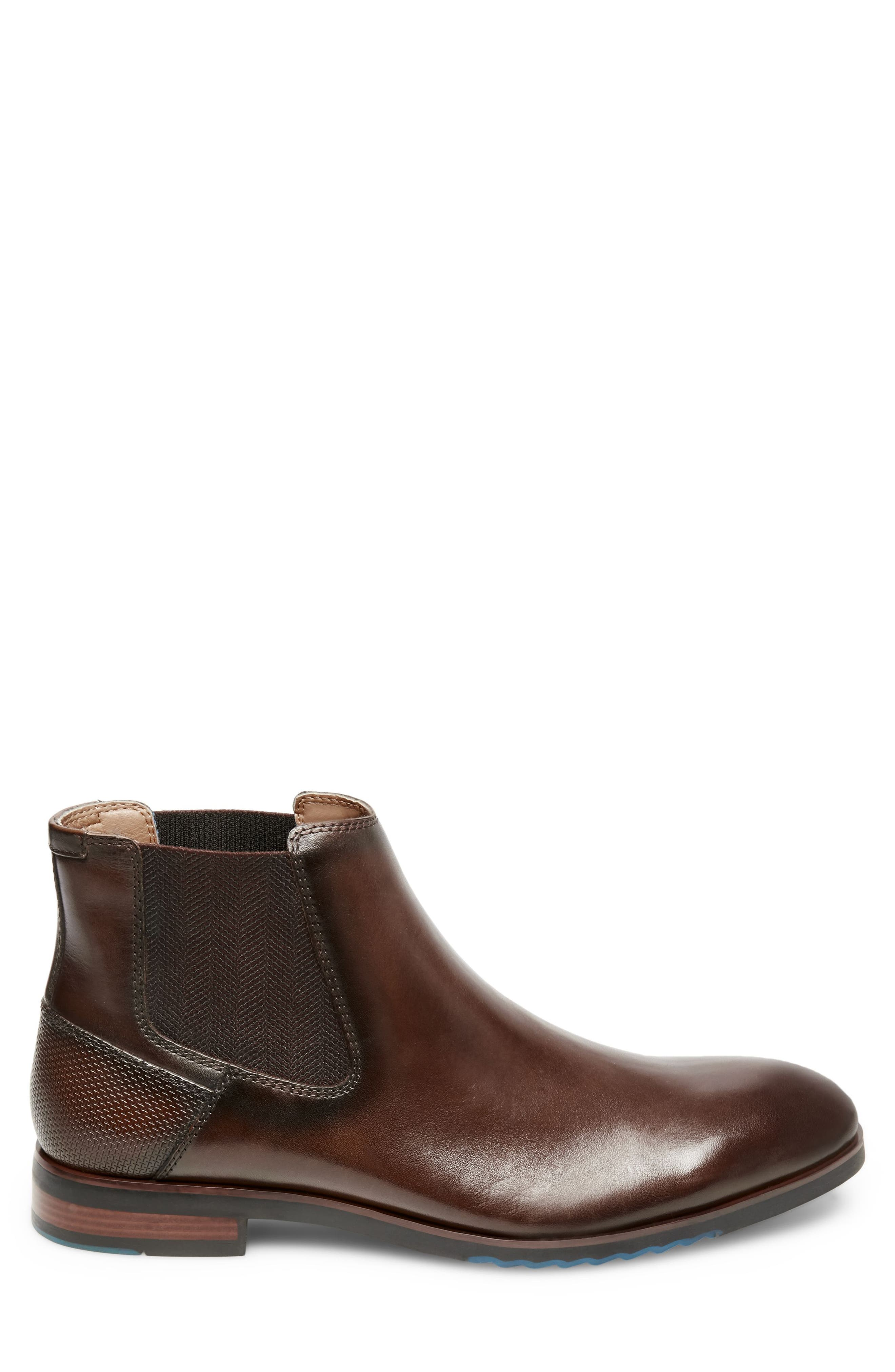 Leston Chelsea Boot,                             Alternate thumbnail 3, color,                             BROWN LEATHER